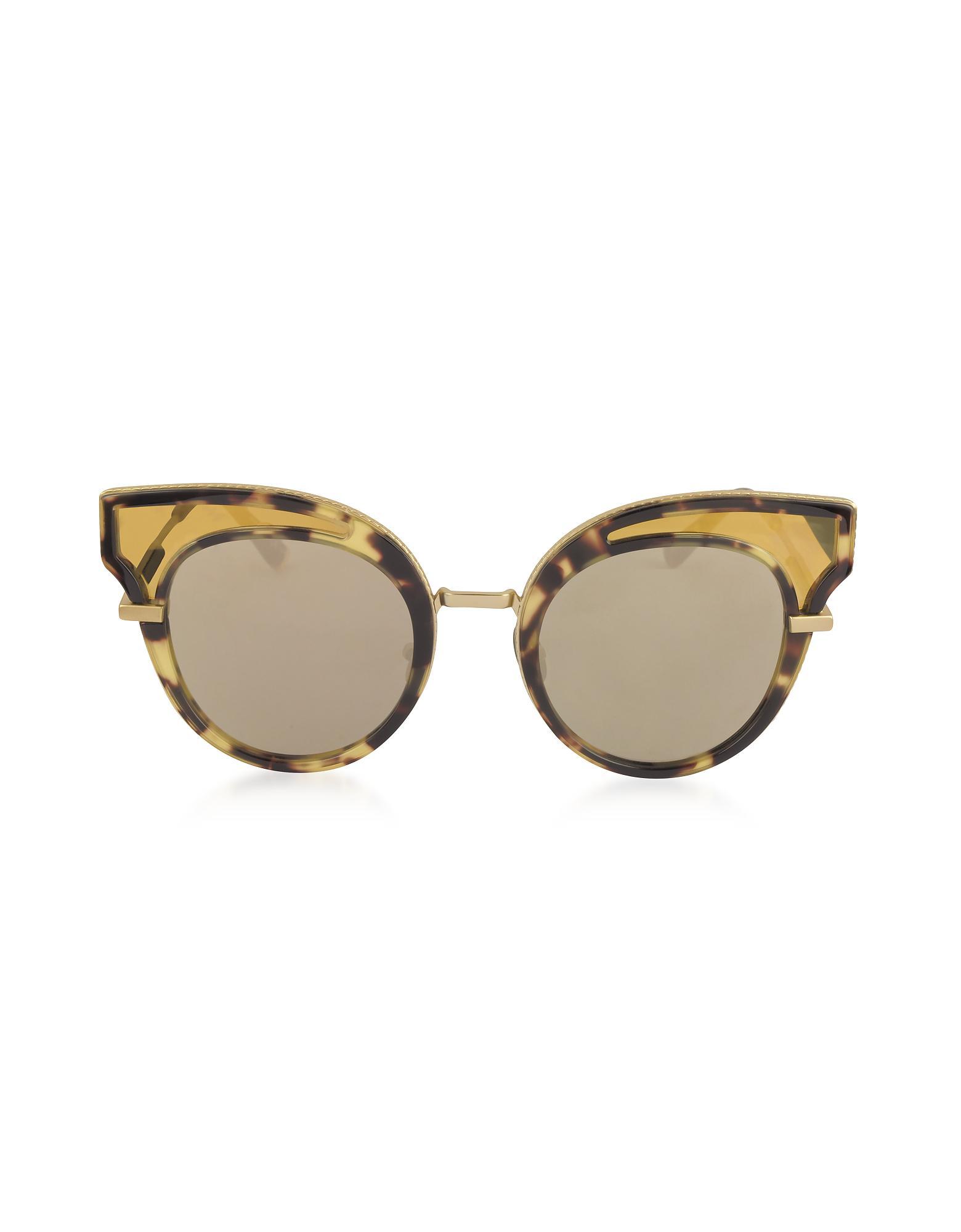 d981bbce976 Lyst - Bottega Veneta Bv0094s Acetate Cat Eye Women s Sunglasses in ...