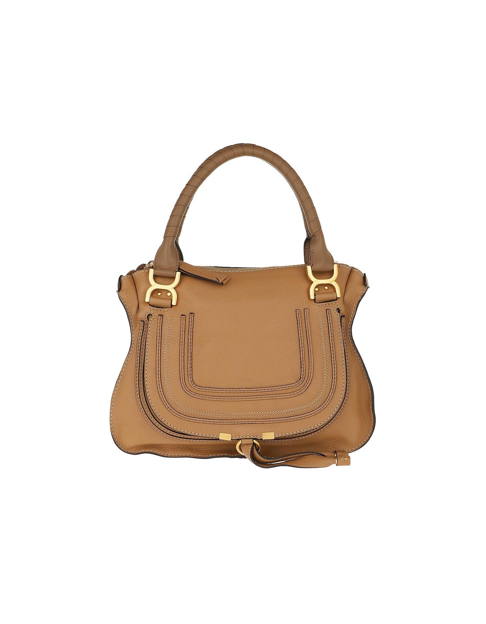 f42498661af6a Lyst - Chloé Marcie Medium Shoulder Bag Nut in Brown