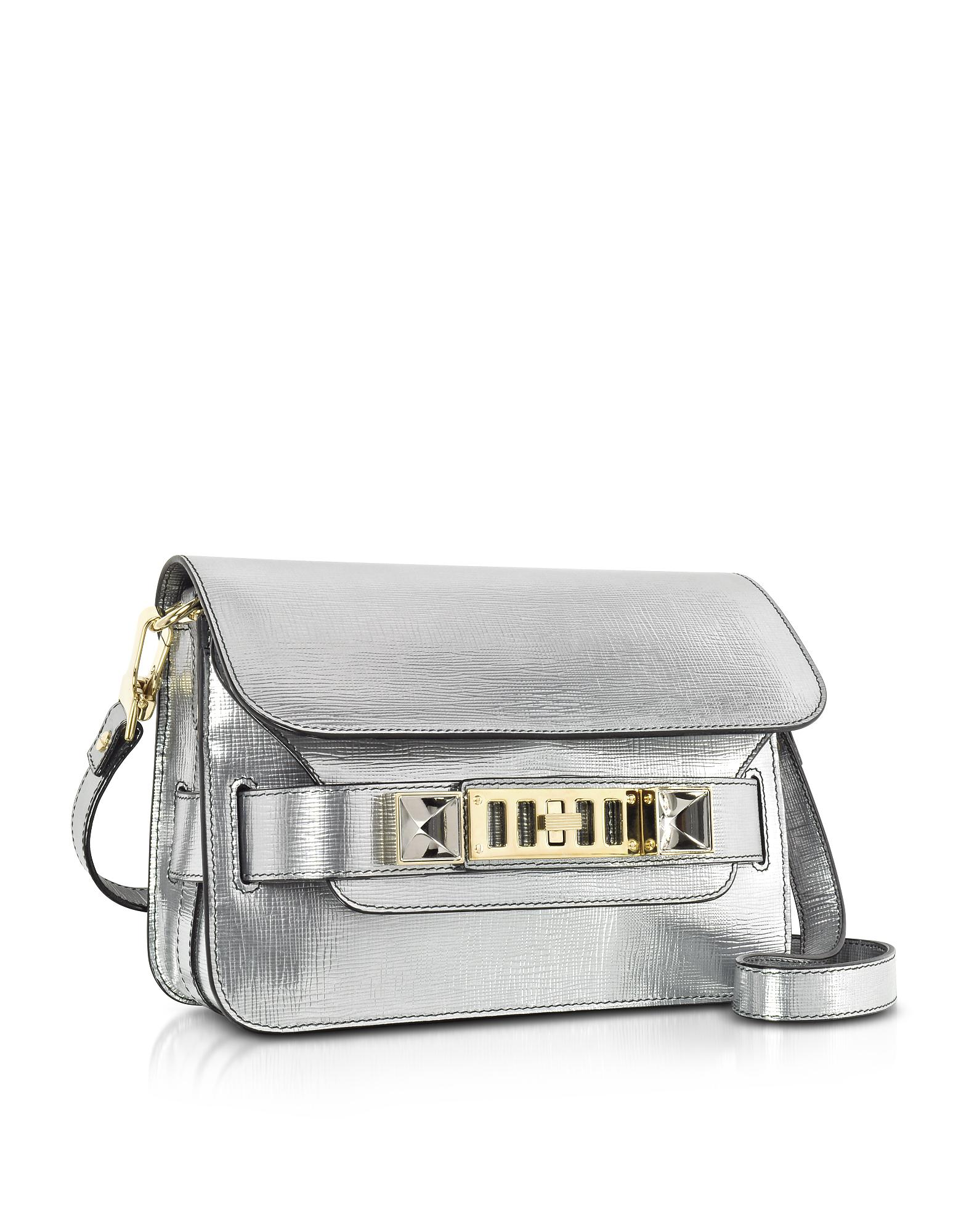 Ps11 Crossbody Bag in Silver Metallic Linosa Proenza Schouler 2HoYf3XLAs