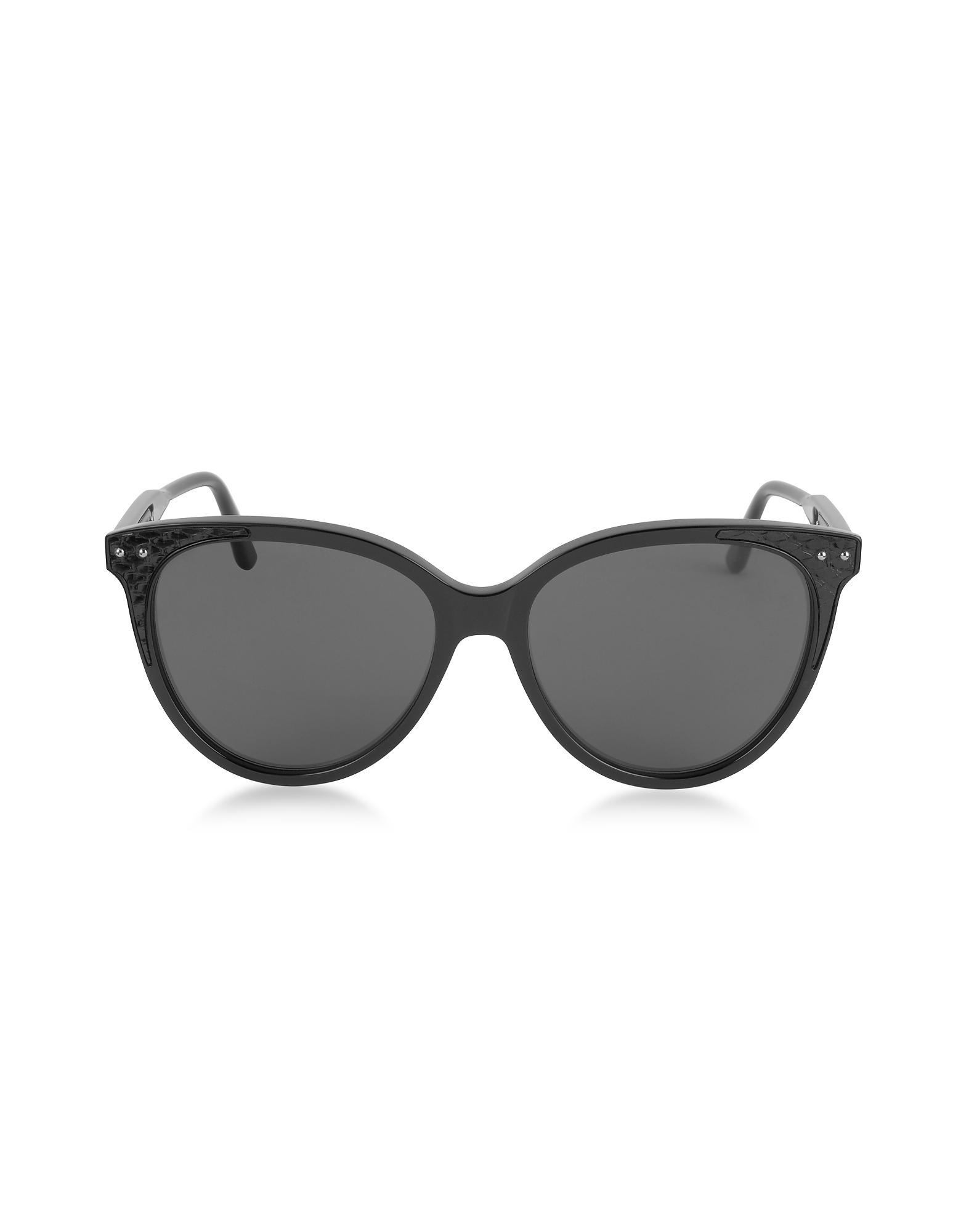 28f5b026e52 Bottega Veneta. Black Bv0119s Acetate Cat-eye Frame Women s Sunglasses