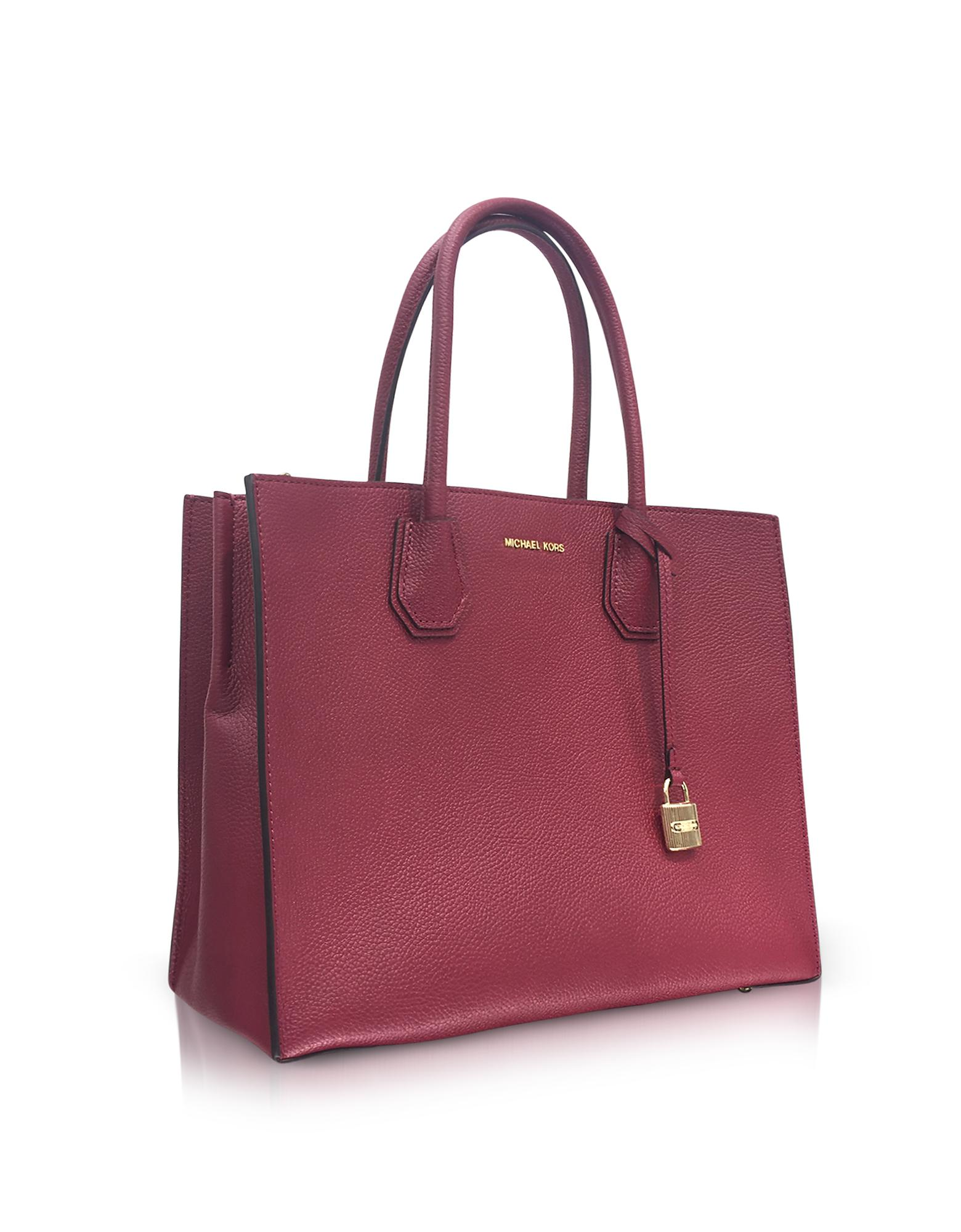 136caea3a03a Michael Kors Mercer Large Mulberry Pebble Leather Convertible Tote ...