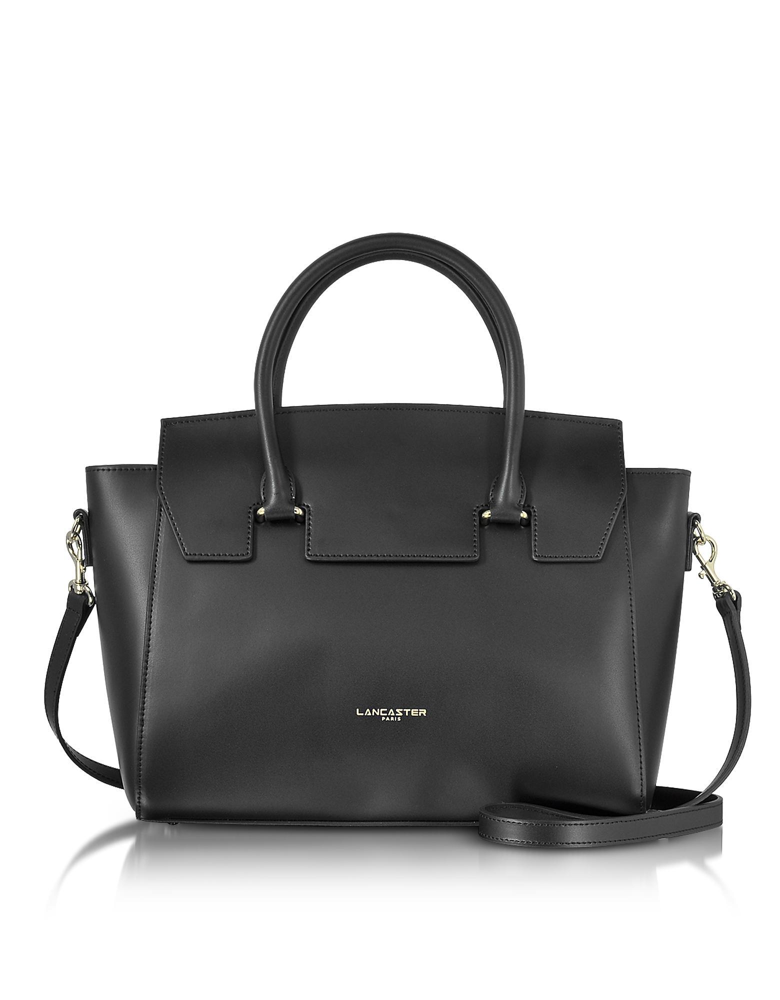 1b129befbc8c Lancaster Paris. Women s Black Camelia Leather Tote Bag W detachable  Shoulder Strap