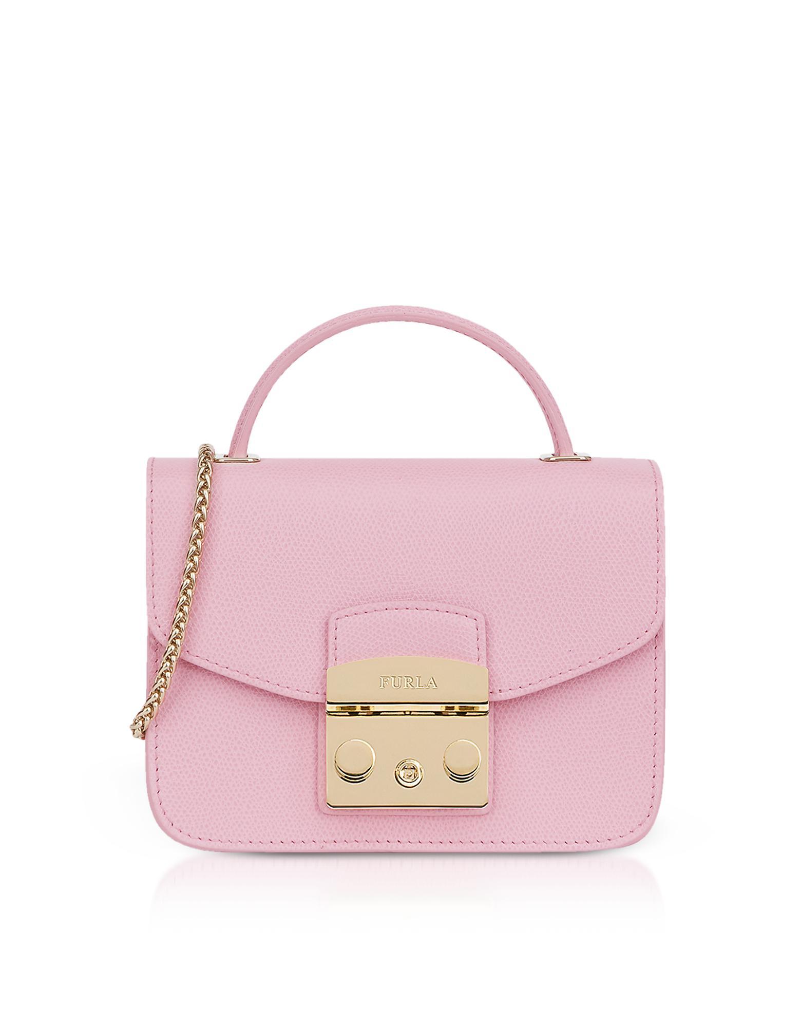 fbe6aab2cfee Furla - Pink Metropolis Mini Top Handle Crossbody Bag - Lyst. View  fullscreen