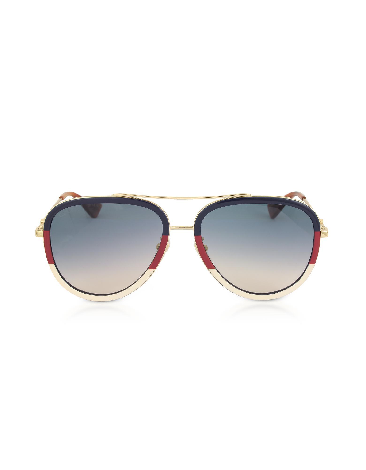 Lyst - Gucci GG0062S Aviator Gold Metal Sunglasses in Metallic for Men 2a8627ac49