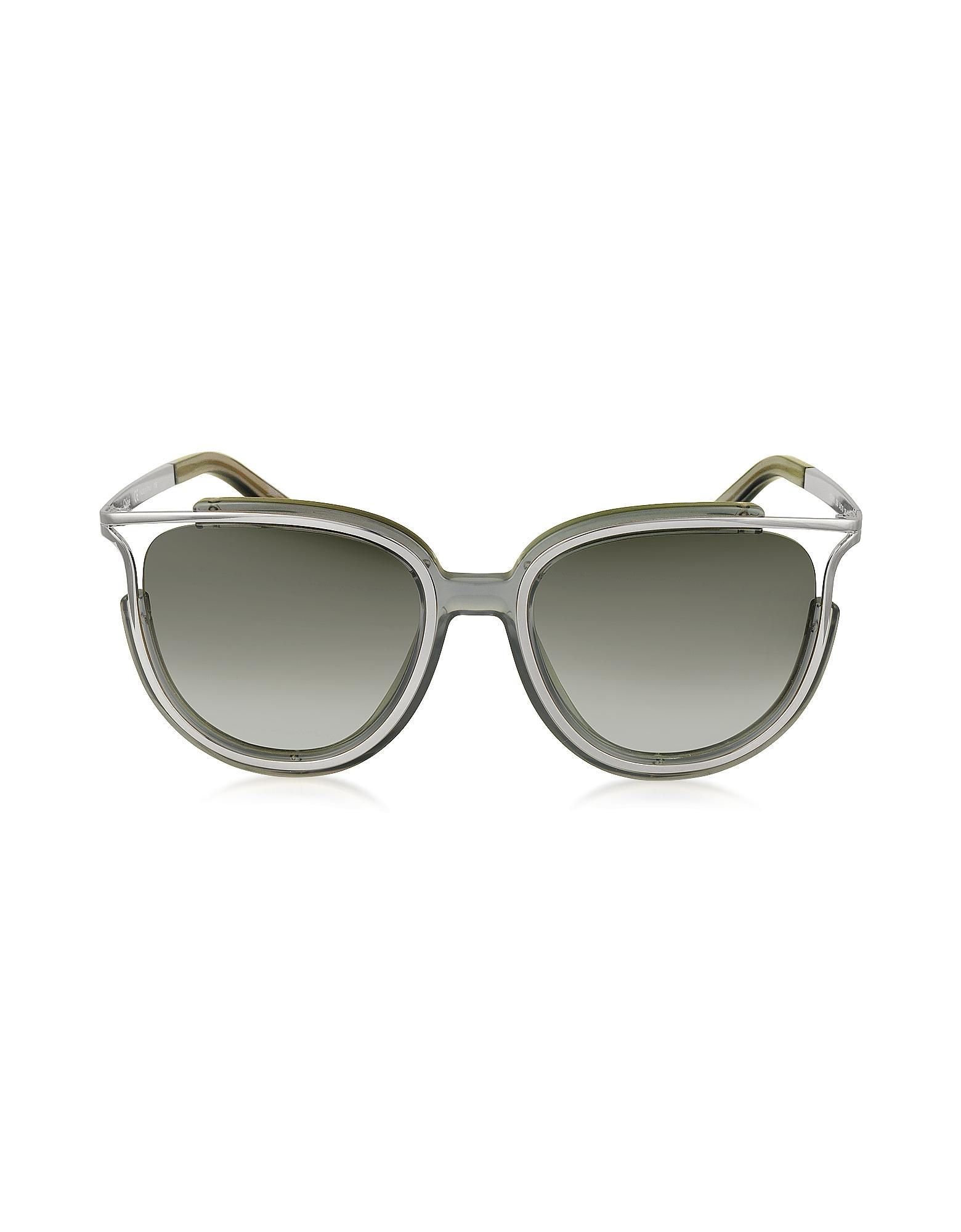 e7b35868ed1 Chloé. Jayme Ce 688s 036 Gray Acetate And Silver Metal Square Women s  Sunglasses