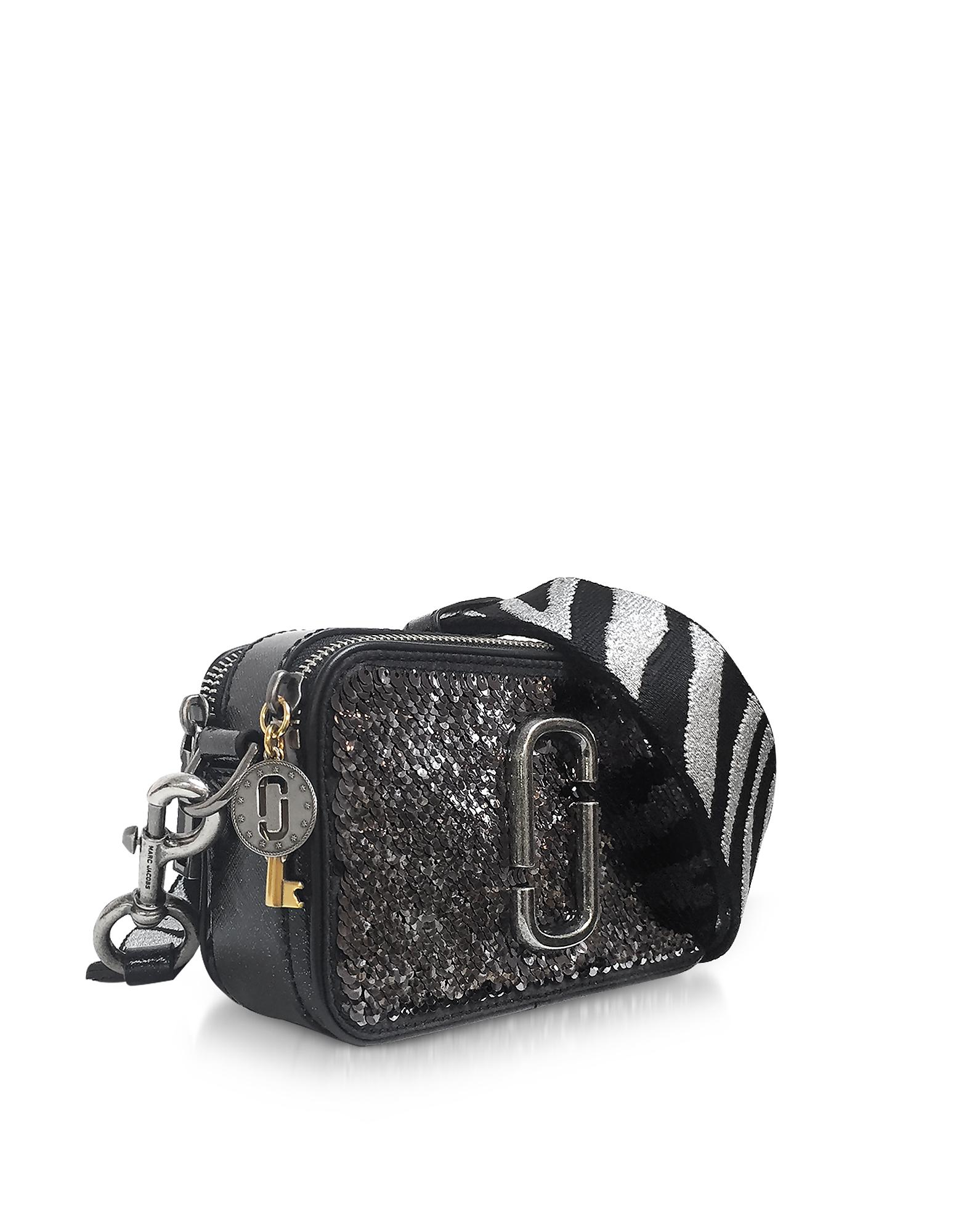 a56cd944be1f Lyst - Marc Jacobs Sequin Snapshot Camera Bag