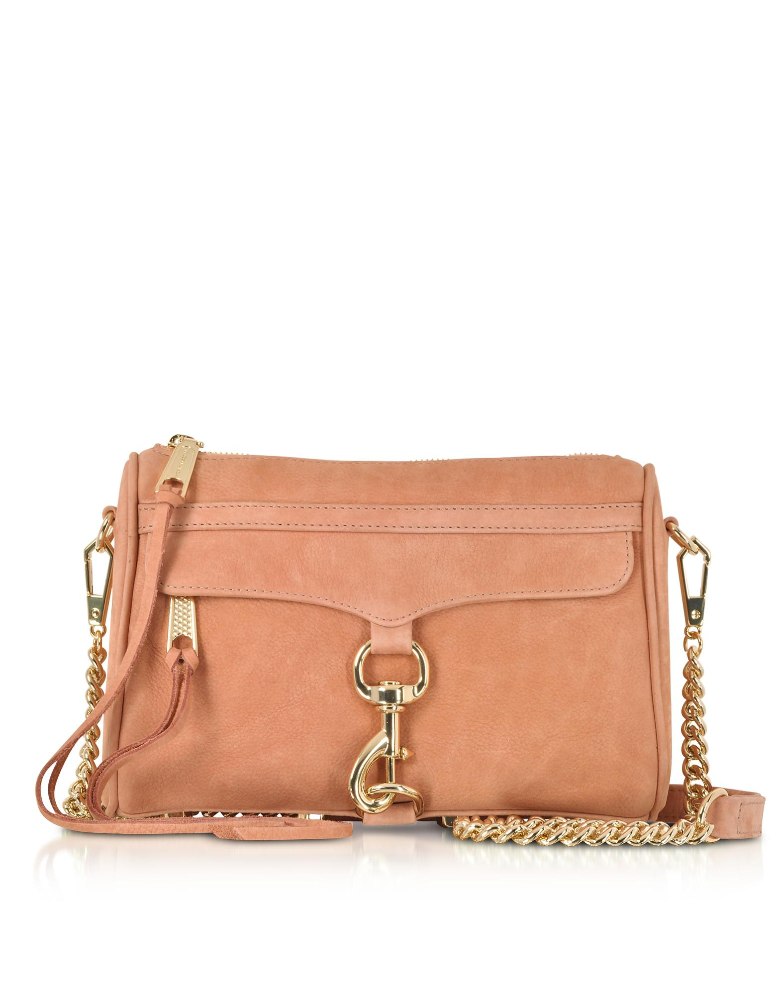 Rebecca Minkoff. Women s Brown Dusty Peach Leather Mini M.a.c. Crossbody Bag 3243680f281a4