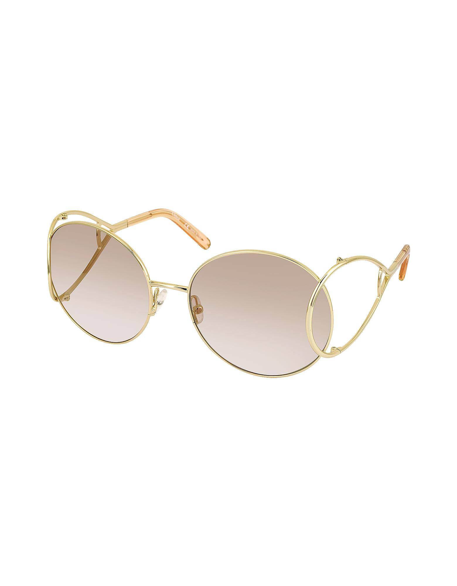 2639580dded Chloé Jackson Ce 124s Metal Round Women s Sunglasses - Save  6.3191153238546605% - Lyst