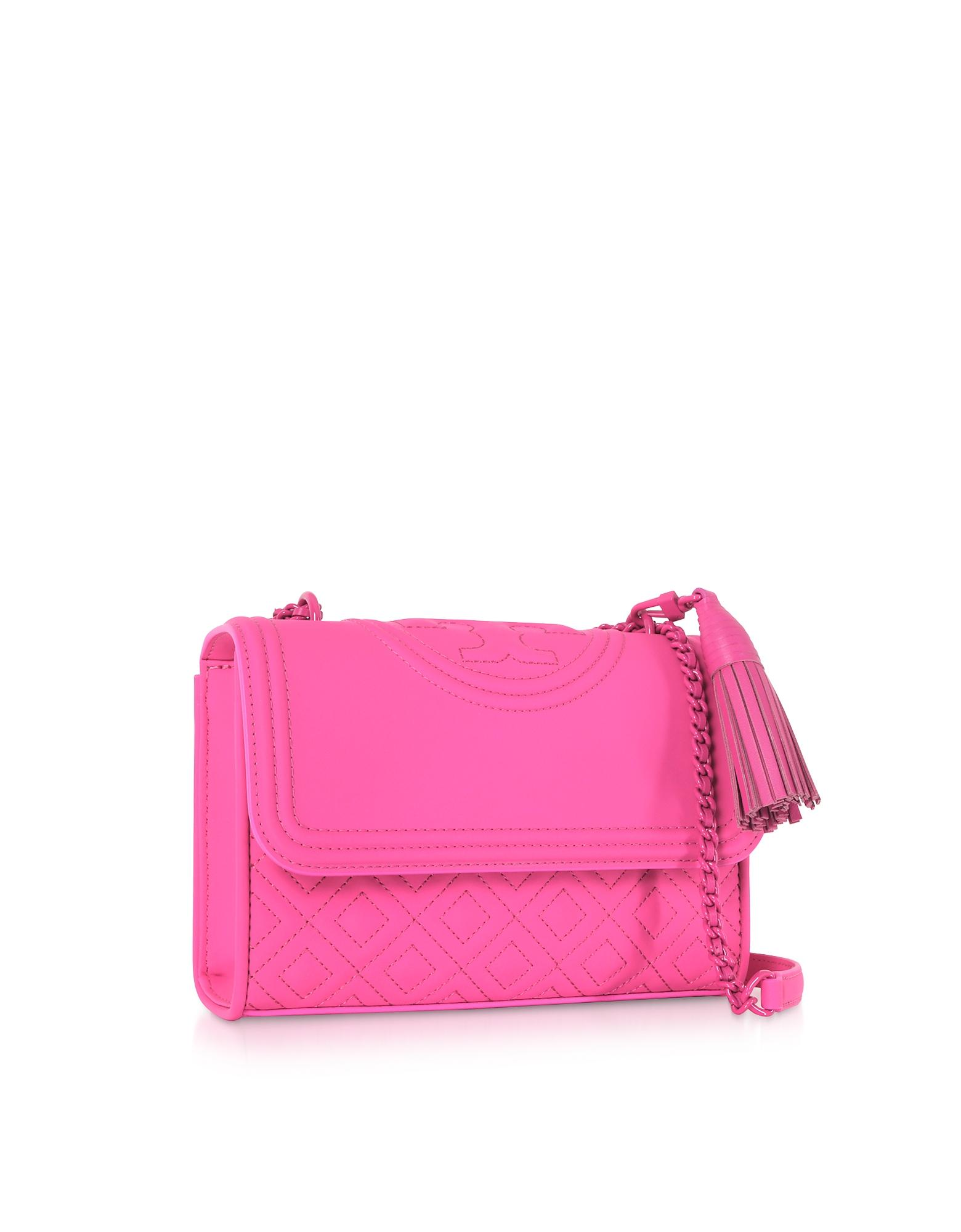 2ab409adc0f6 Tory Burch Fleming Small Convertible Shoulder Bag in Pink - Lyst