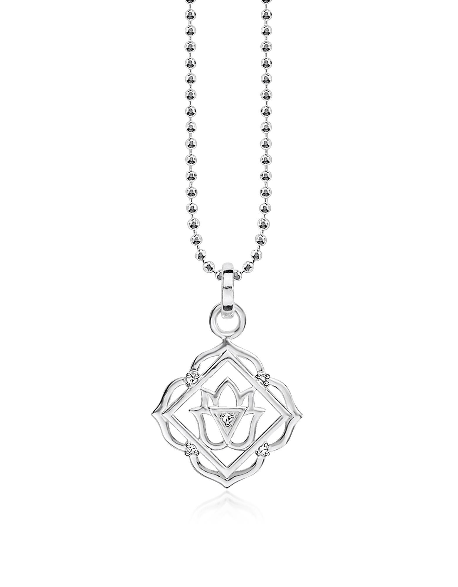 Thomas Sabo Women-Charm Pendant Lucky Charm Club 925 Sterling Silver Zirconia white 0870-051-14