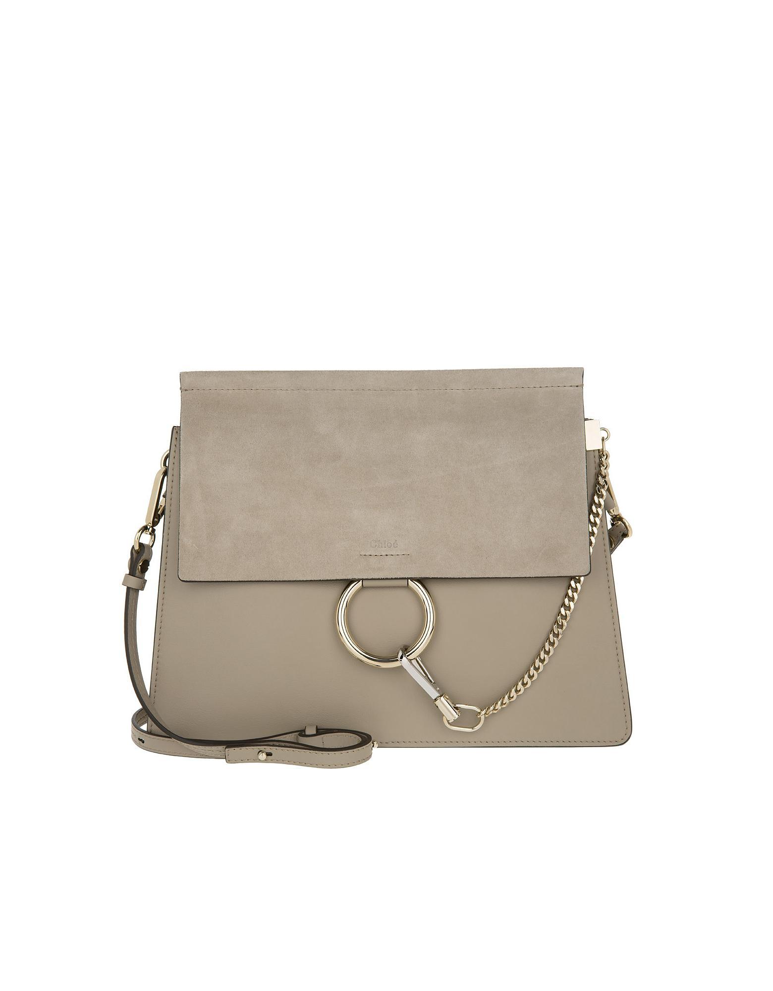 14bbfdd02fd7c Lyst - Chloé Faye Shoulder Bag Motty Grey in Gray