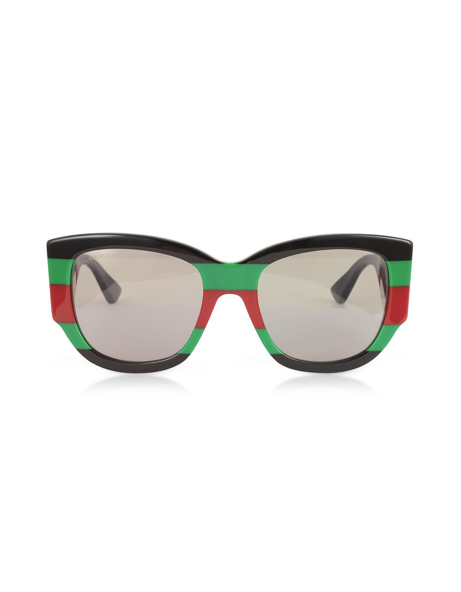 11fc1594d25 Gucci. Women s Black GG0276S Colour Block Oversize Cat Eye Acetate  Sunglassesw sylvie Web Temples