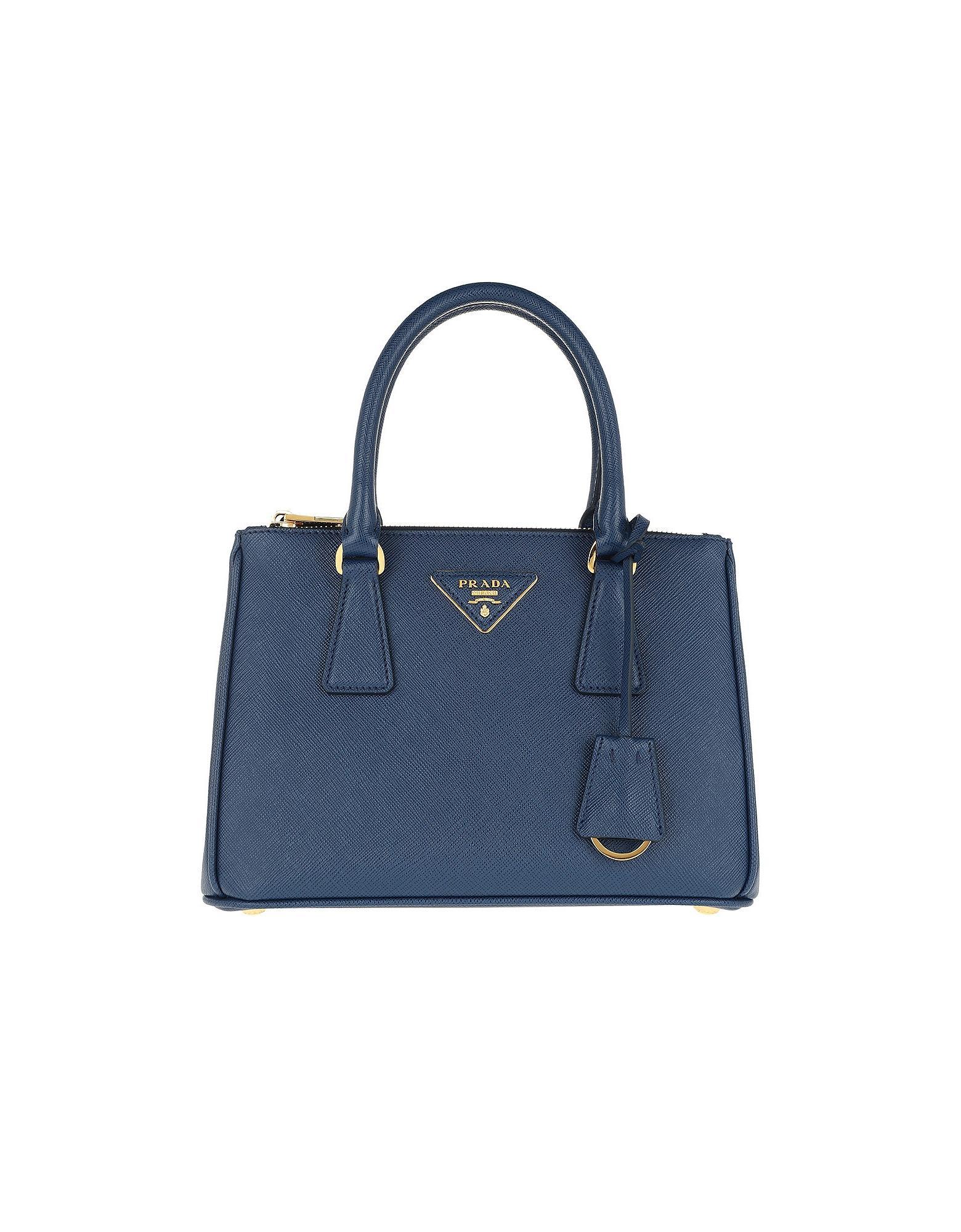cc8b40cc0214 Prada - Galleria Tote Bag Small Bluette - Lyst. View fullscreen