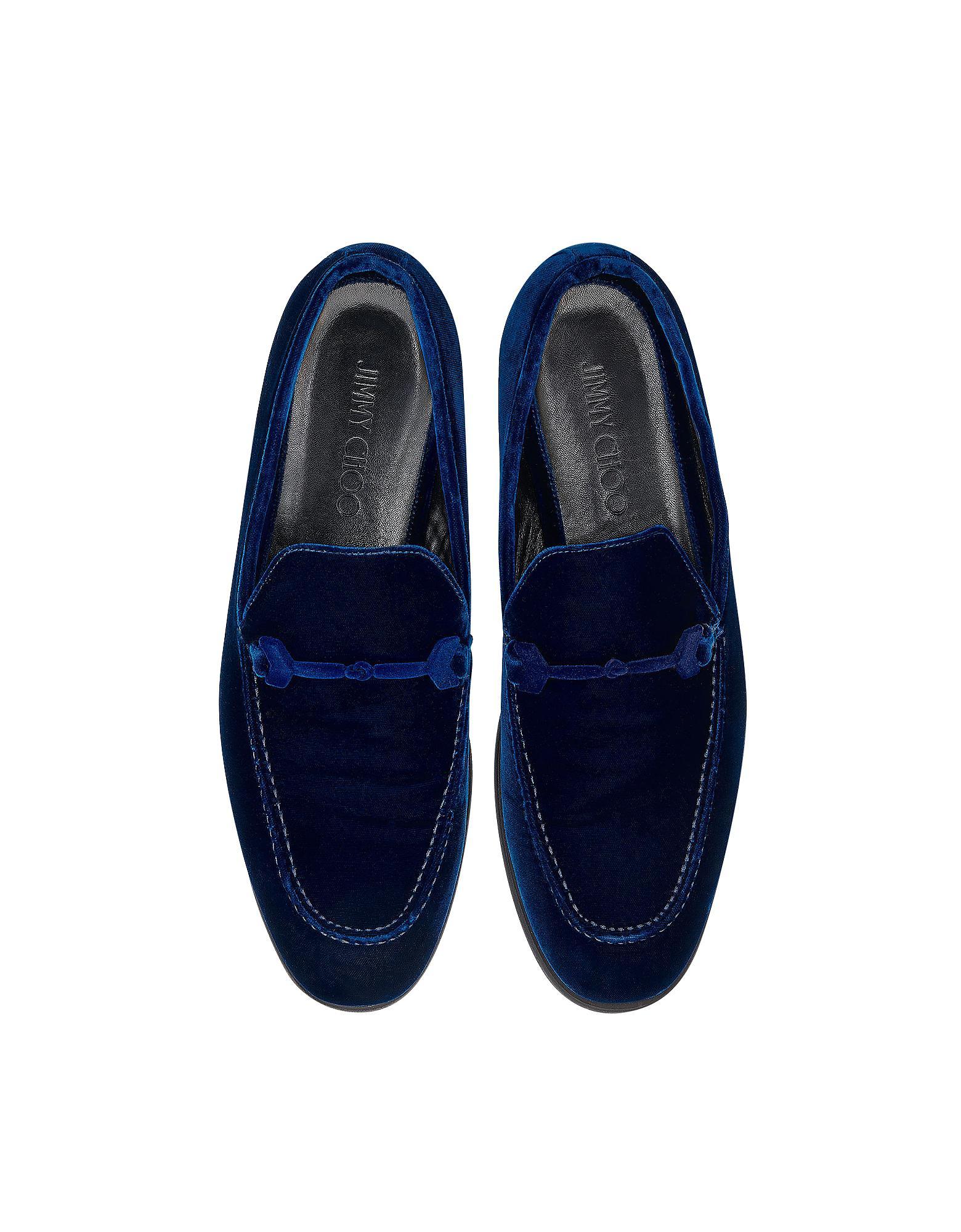 1af010cf1fd Jimmy Choo Marti Navy Blue Velvet Loafer in Blue for Men - Lyst