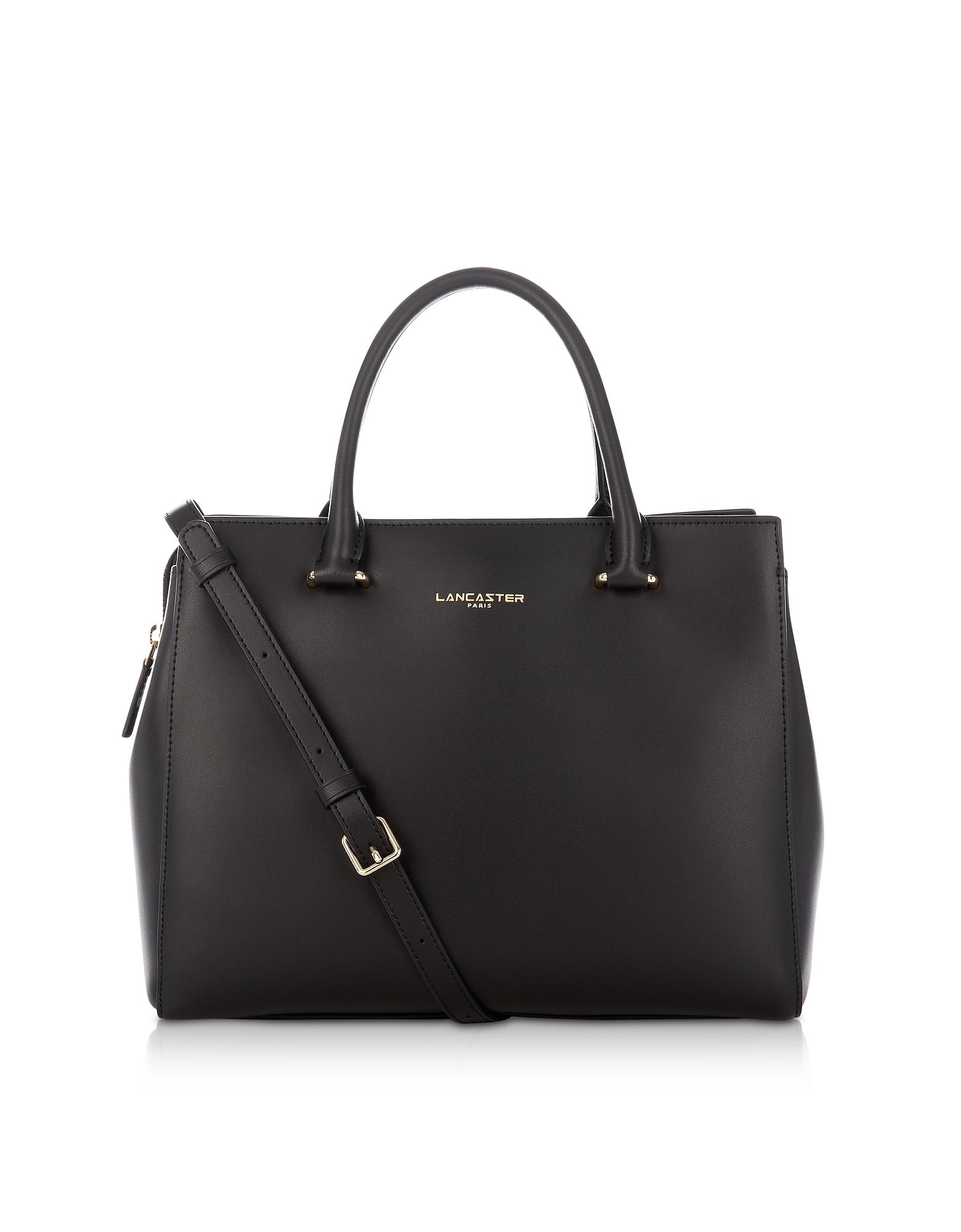 2ccbe07c2311 Lancaster Paris Camelia Smooth Leather Top Handle Satchel Bag in ...
