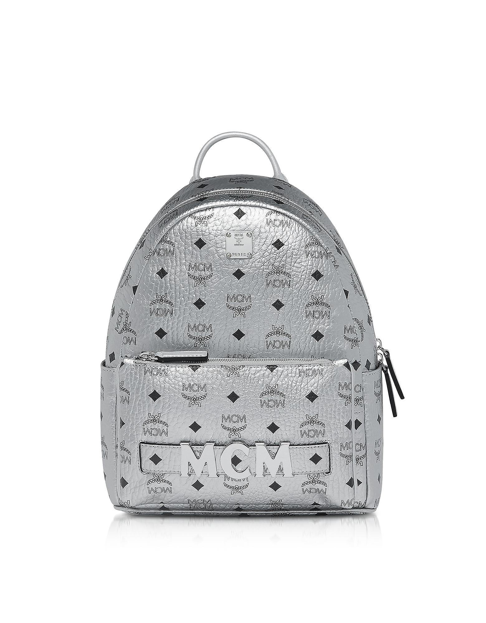 05e29f6586efe MCM - Metallic Berlin Silver Visetos Trilogie Stark Backpack for Men -  Lyst. View fullscreen