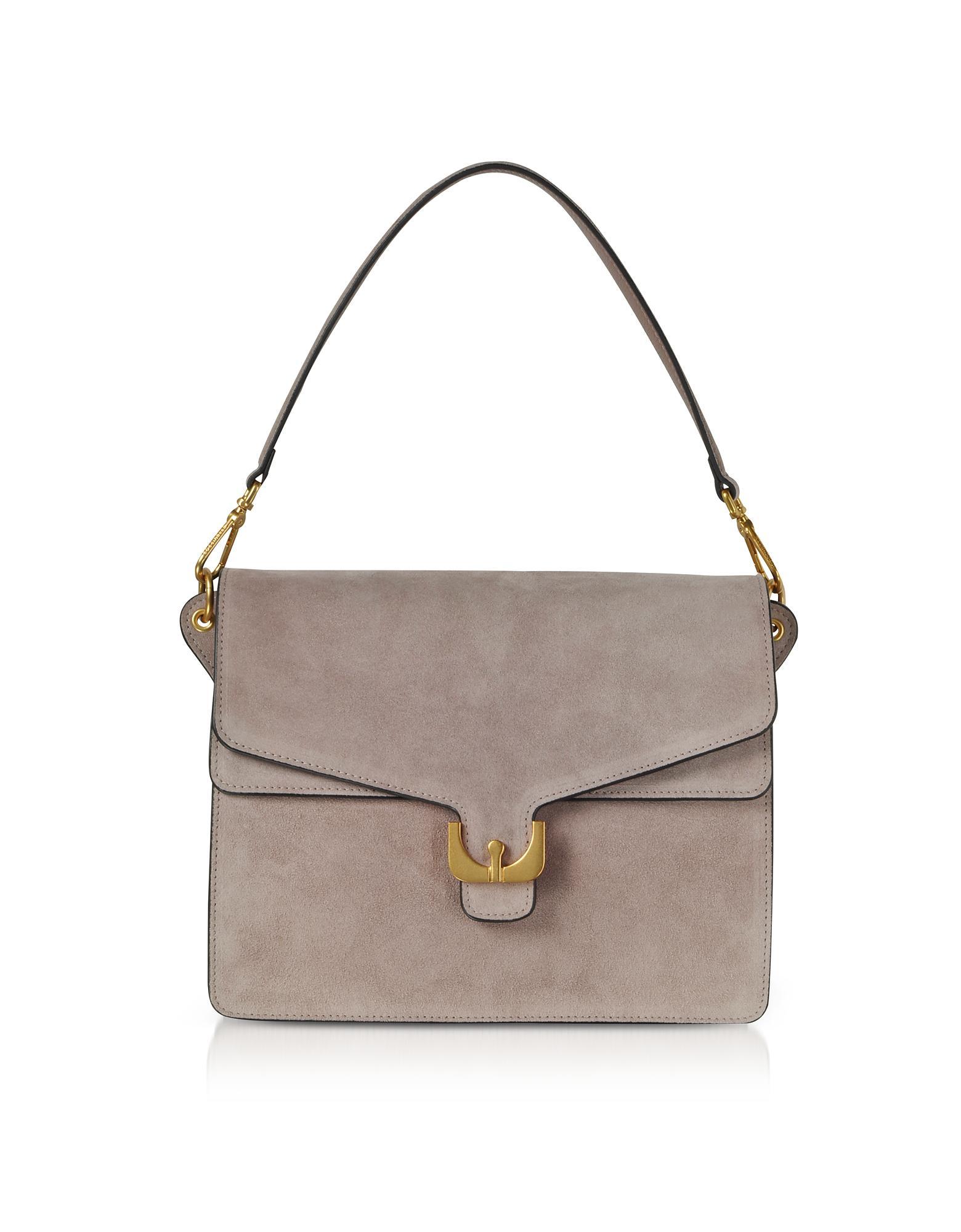 Super Lyst - Coccinelle Ambrine Peony Pink Suede Shoulder Bag in Purple XJ31
