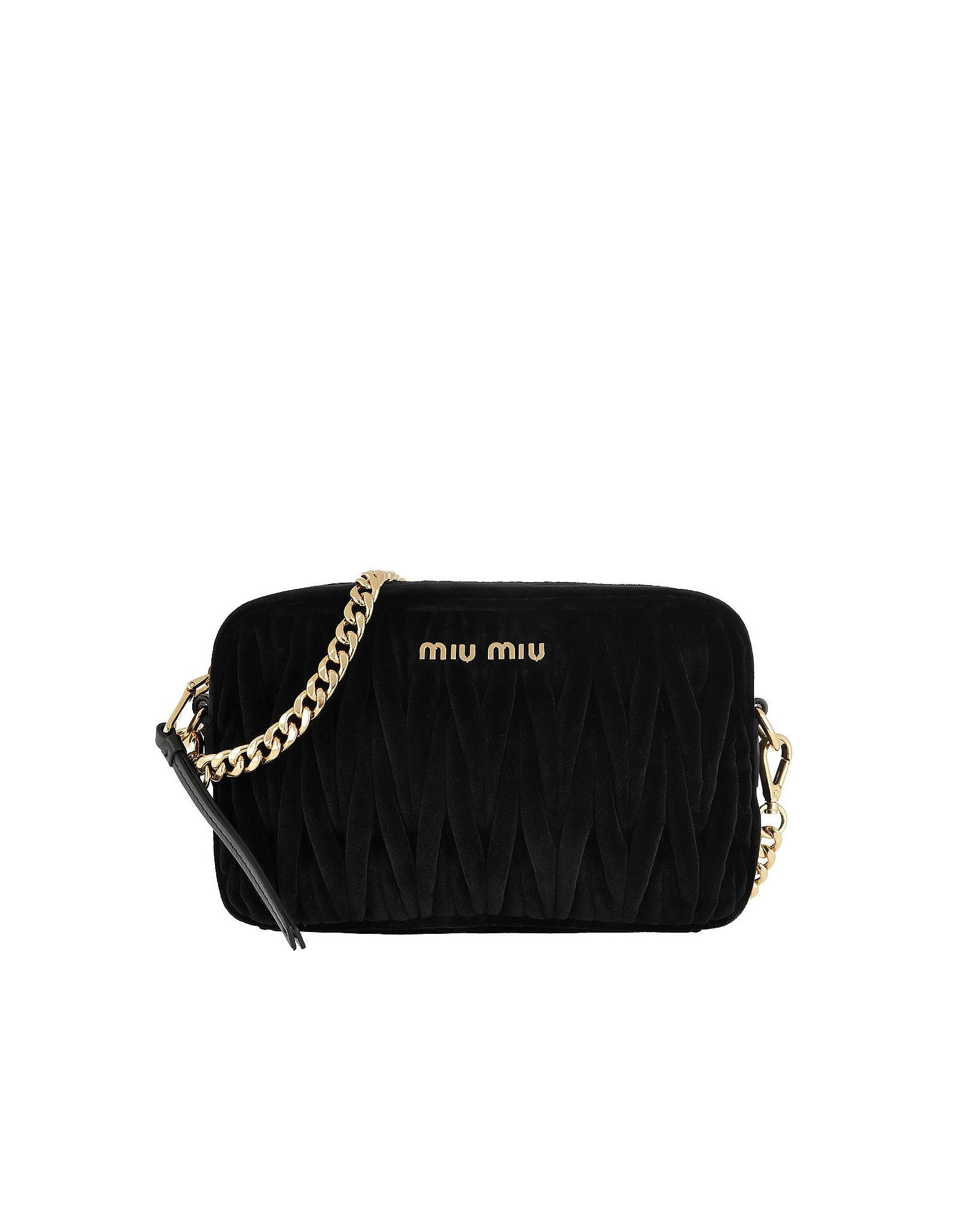 8db055965119 Miu Miu - Matelassé Shoulder Bag Velvet Black - Lyst. View fullscreen