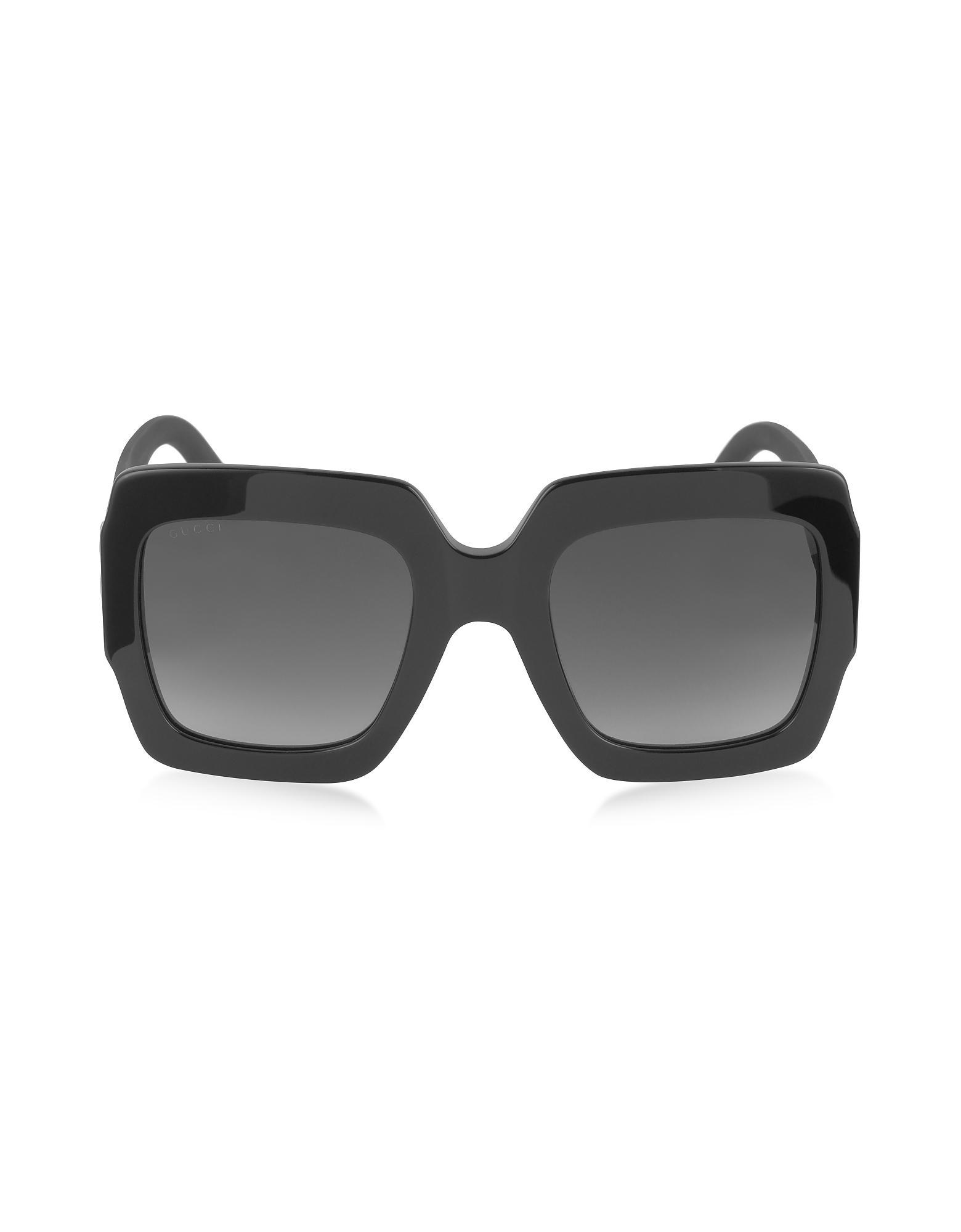 gucci 3806. gucci | gg0053s optyl square women\u0027s sunglasses w/glitter temples lyst 3806