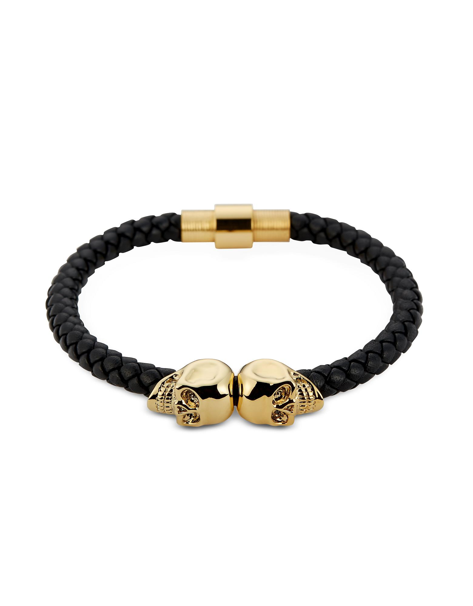 summer north and leather gold pin nappa the by for bracelet with tan luxurious skull accessorise twin