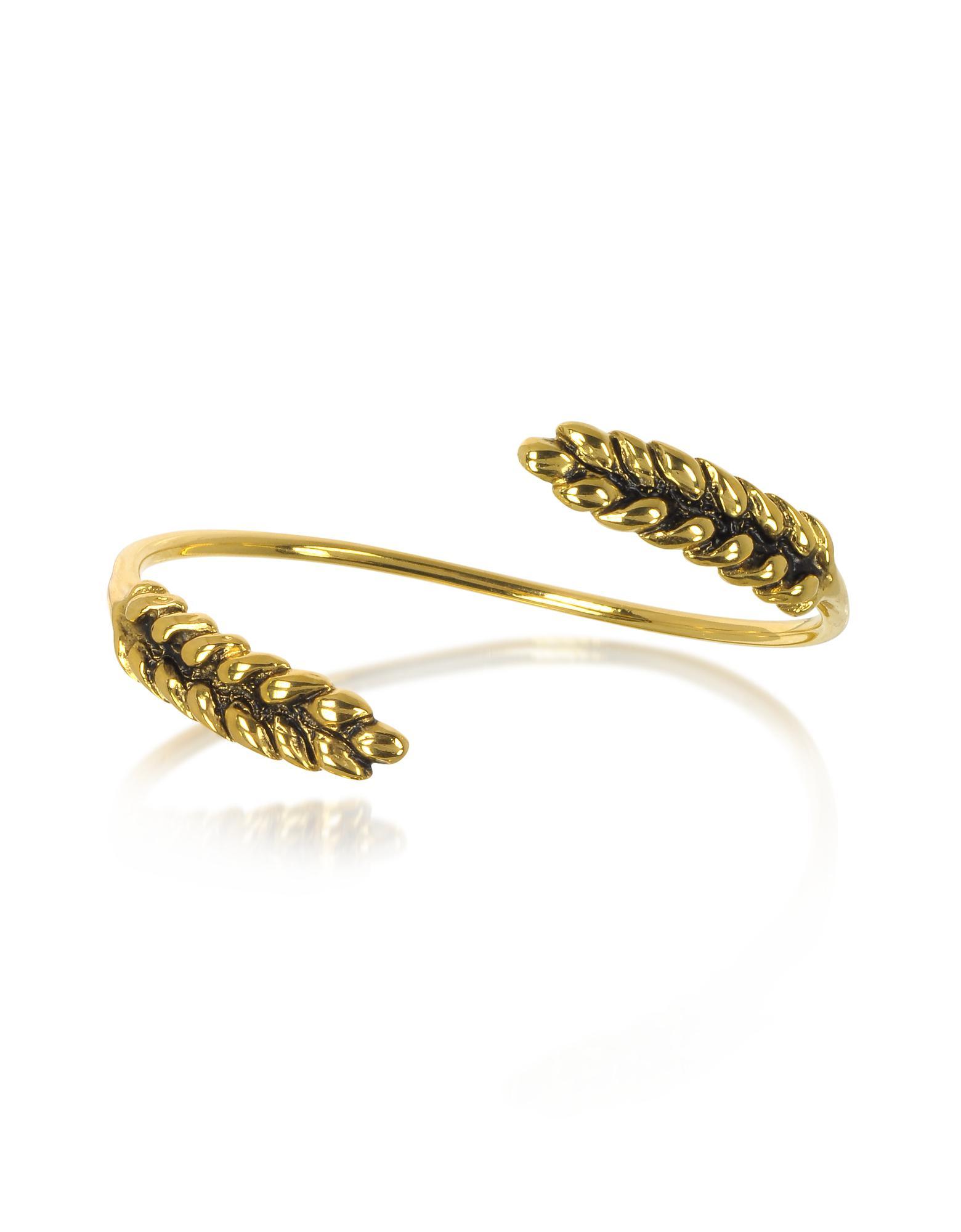 Wheat Mutli Cobs Bracelet in 18K Gold-Plated Brass Aur aU37F