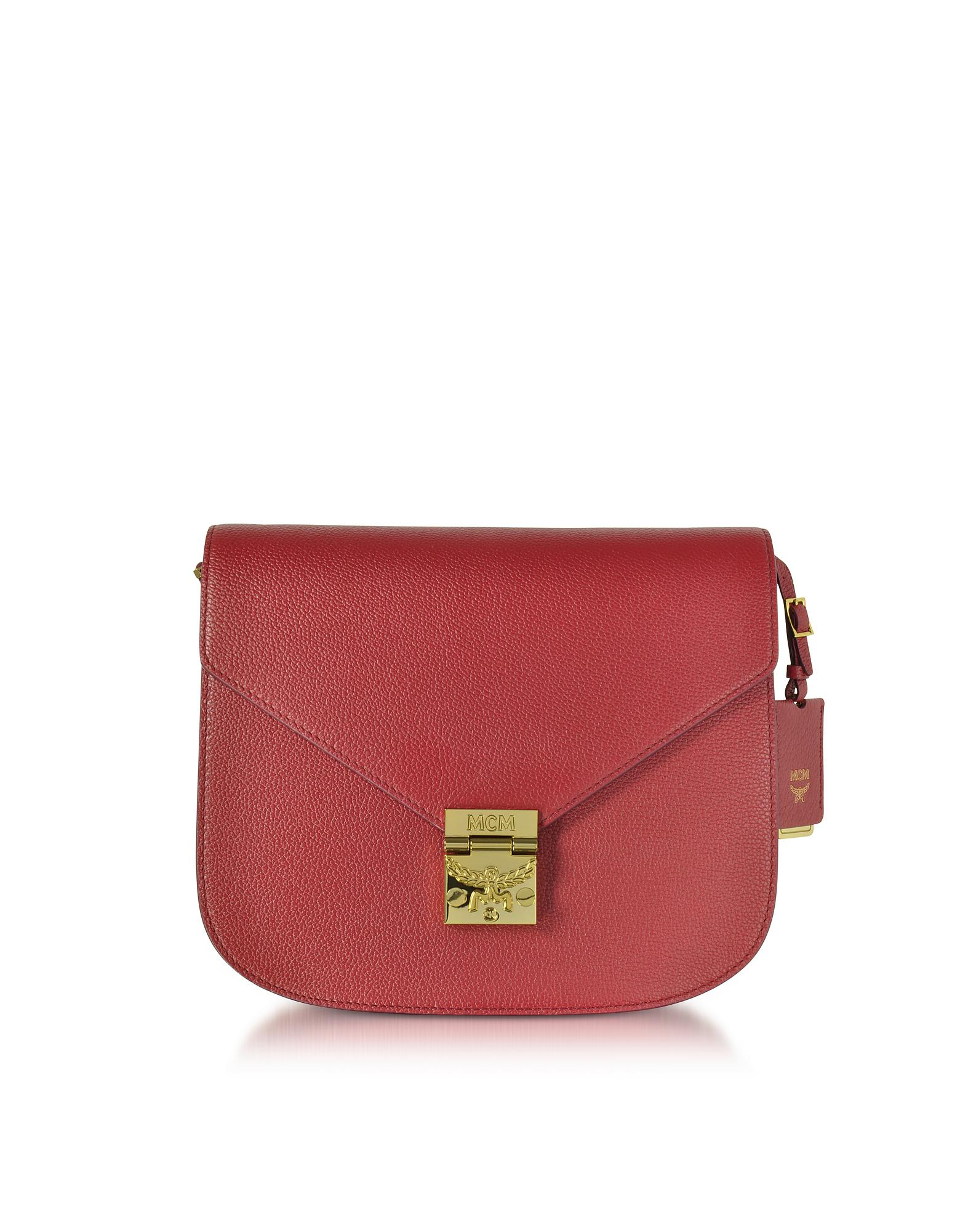 MCM - Red Patricia Park Avenue Medium Burgundy Leather Shoulder Bag - Lyst.  View fullscreen 30aa5e8545554