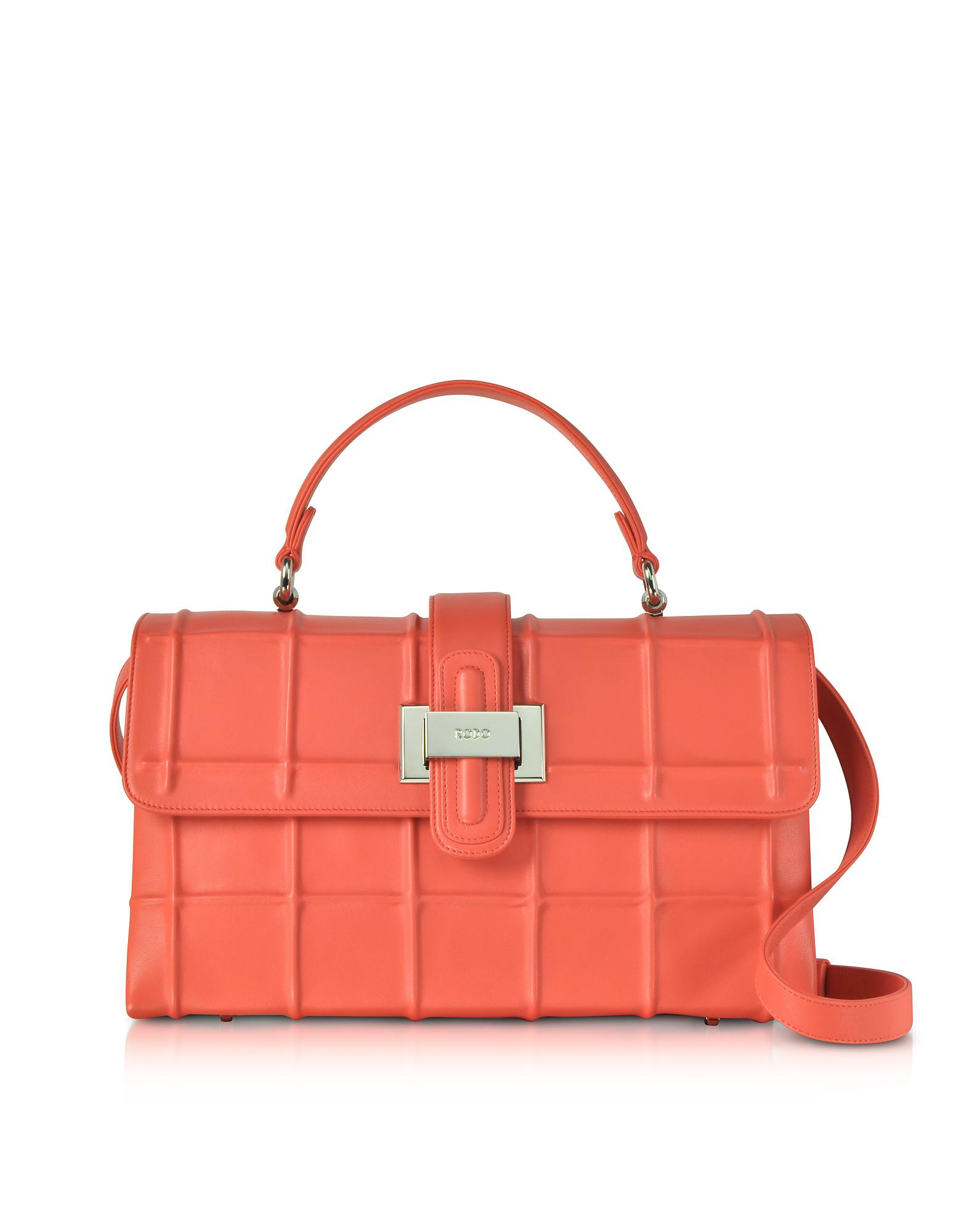 0424d8894a12 Rodo Poppy Nappa Leather Lunch Bag in Red - Lyst