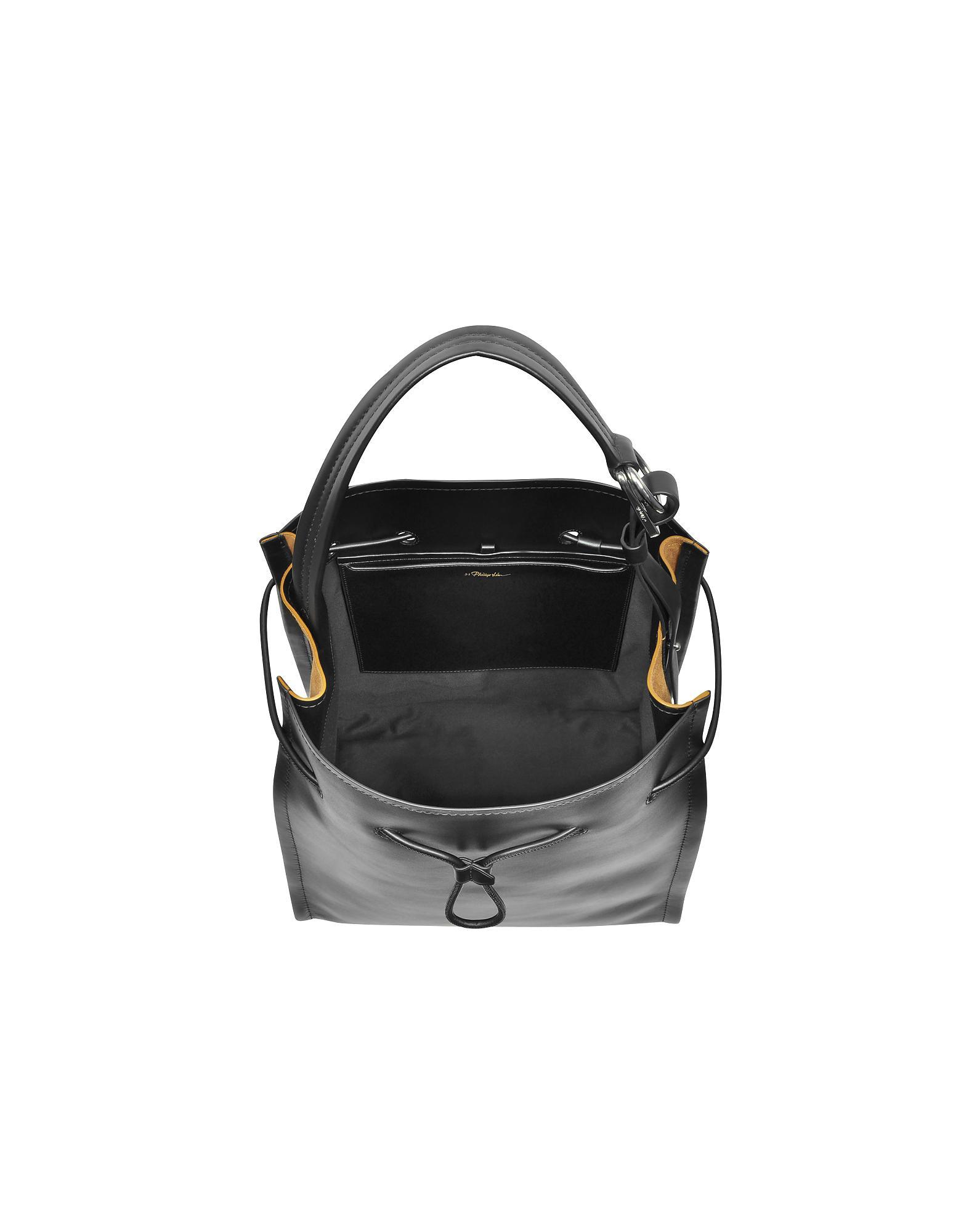 8fcf5fa27bf9 3.1 Phillip Lim Black Leather And Cinnamon Suede Hudson Market in ...