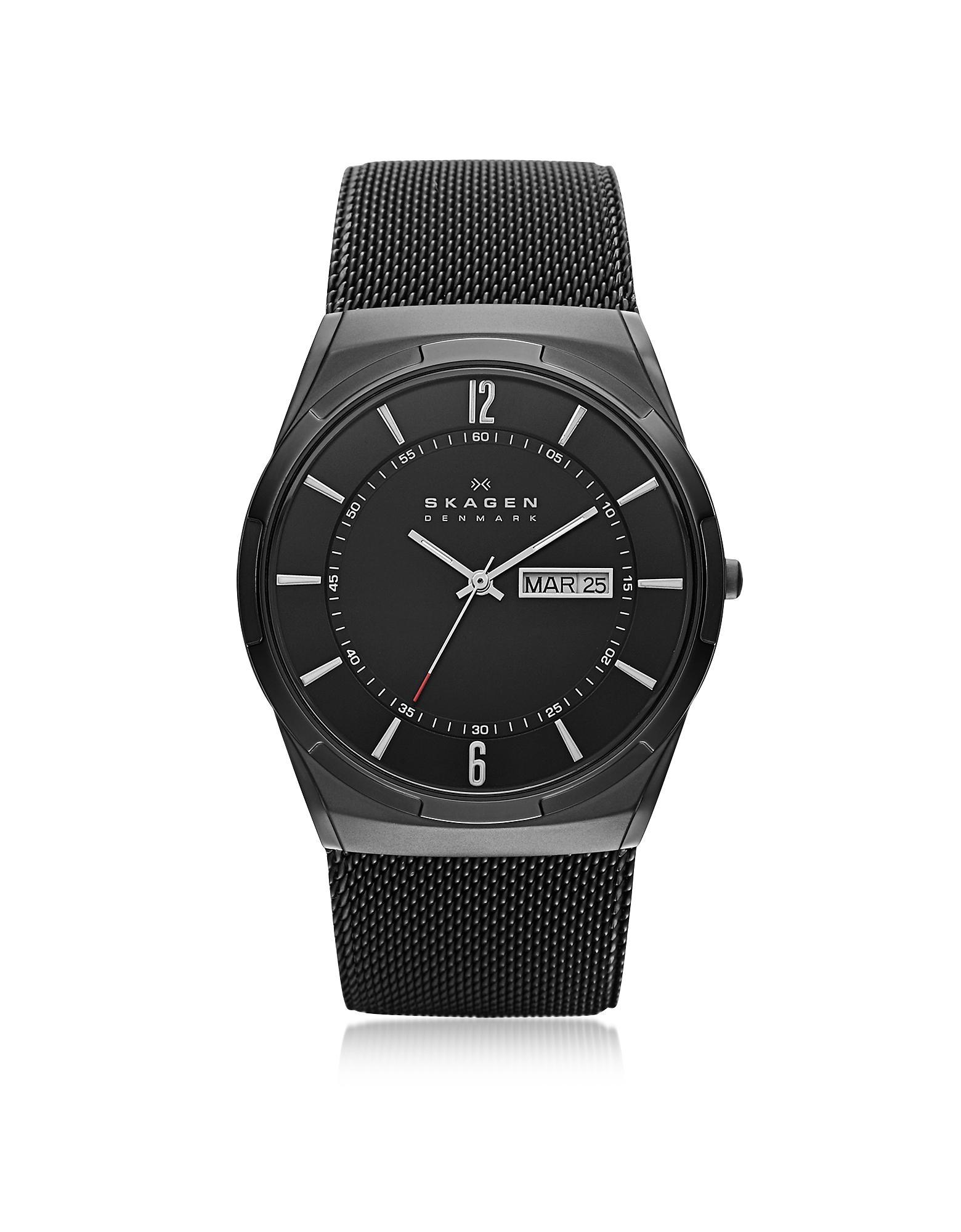913615e9cac3 Melbye Reloj para Hombres de Titanio y Acero Negro Skagen de hombre ...