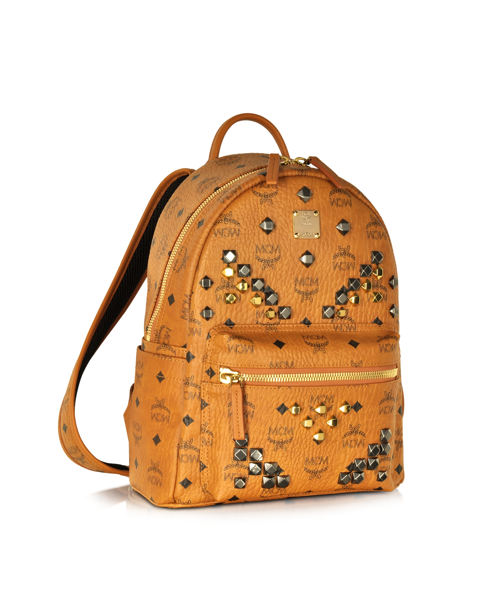 mcm small stark backpack in brown cognac lyst. Black Bedroom Furniture Sets. Home Design Ideas