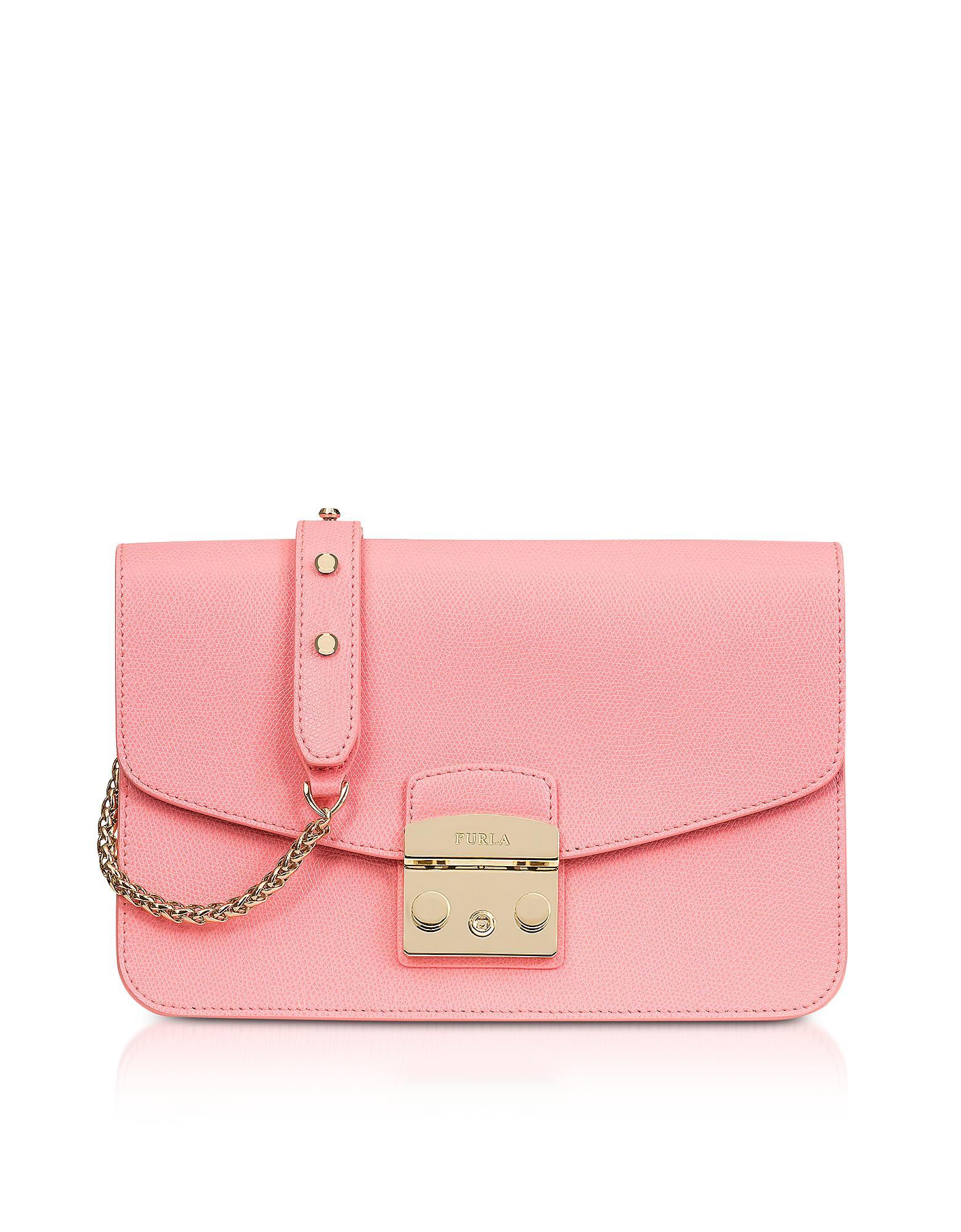 Furla Rose Quartz Leather Metropolis Small Shoulder Bag in Pink - Lyst 3b9e6d5308a00
