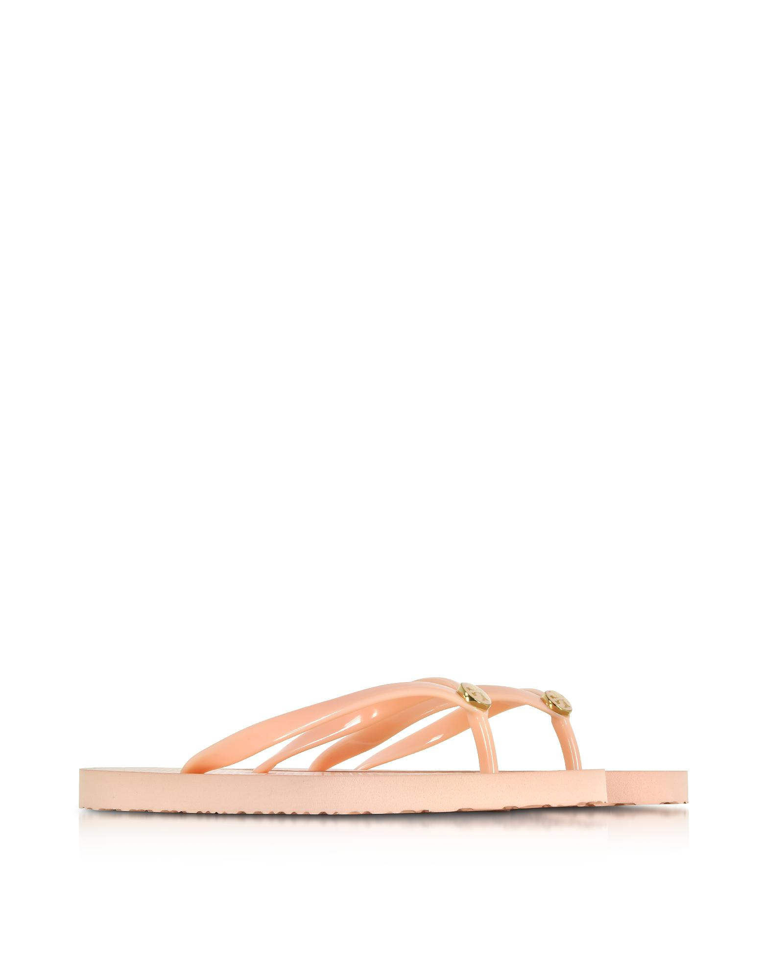9e2ca28b92bc Lyst - Tory Burch Thin Solid Perfect Blush Flip Flop W signature Logo