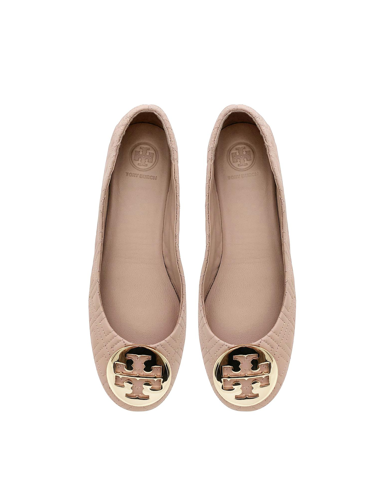 868d5185514 Lyst - Tory Burch Goan Sand Quilted Nappa Leather Minnie Ballerinas ...