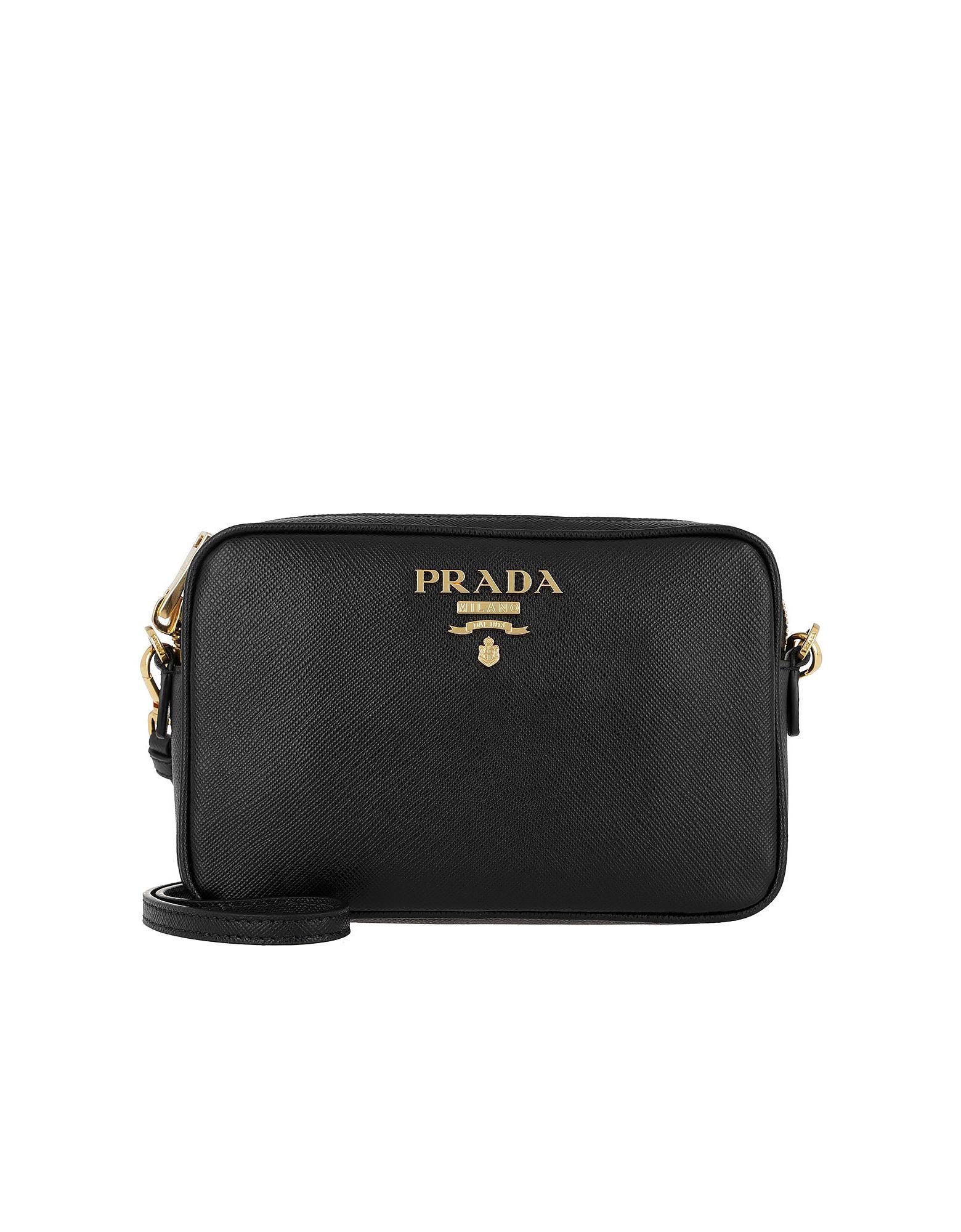 76f953ee12f2 ... norway prada medium saffiano leather black camera bag lyst. view  fullscreen 2ece2 d35ff