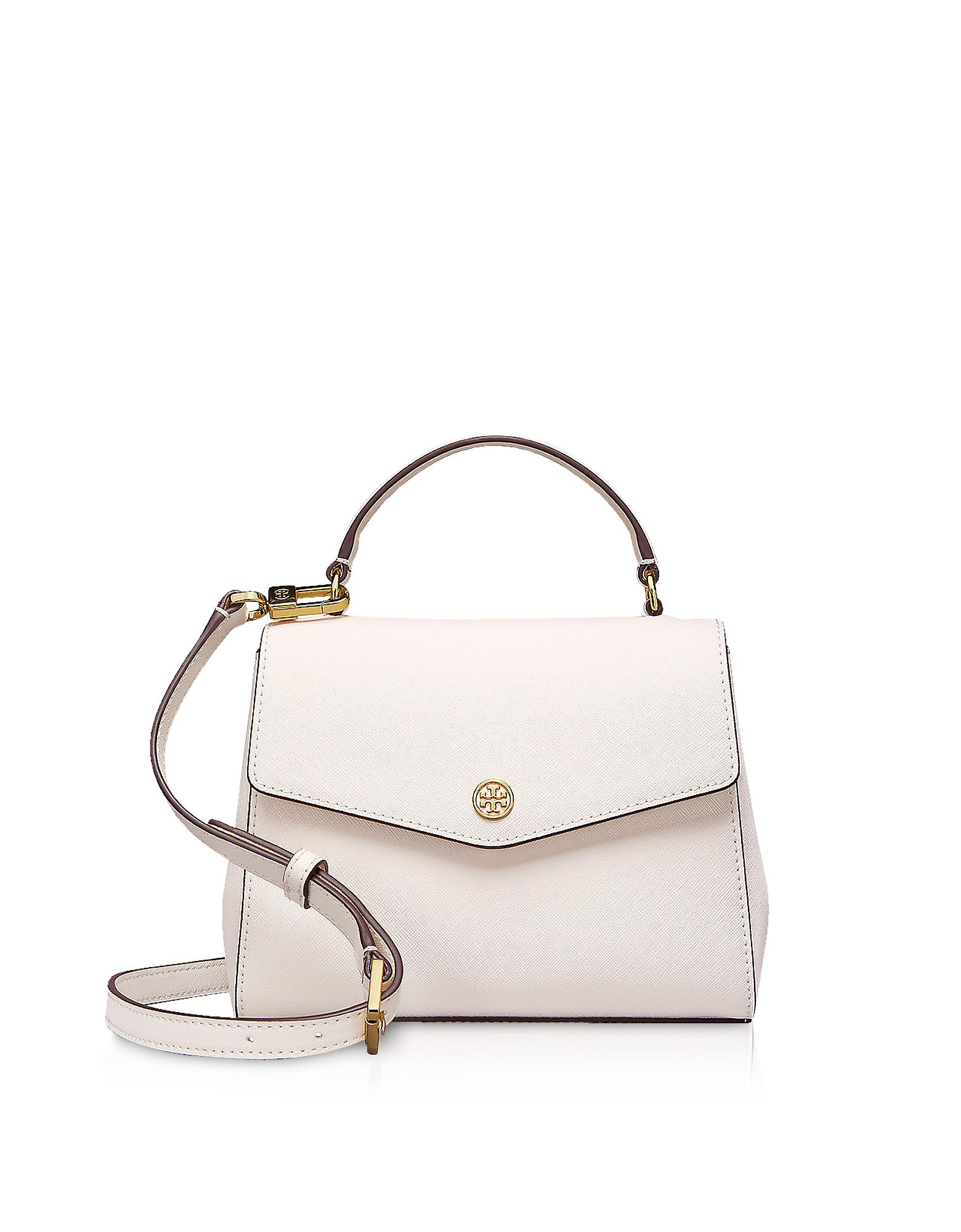 4e55edc951a3 Tory Burch Birch Leather Robinson Small Top-handle Satchel Bag in ...