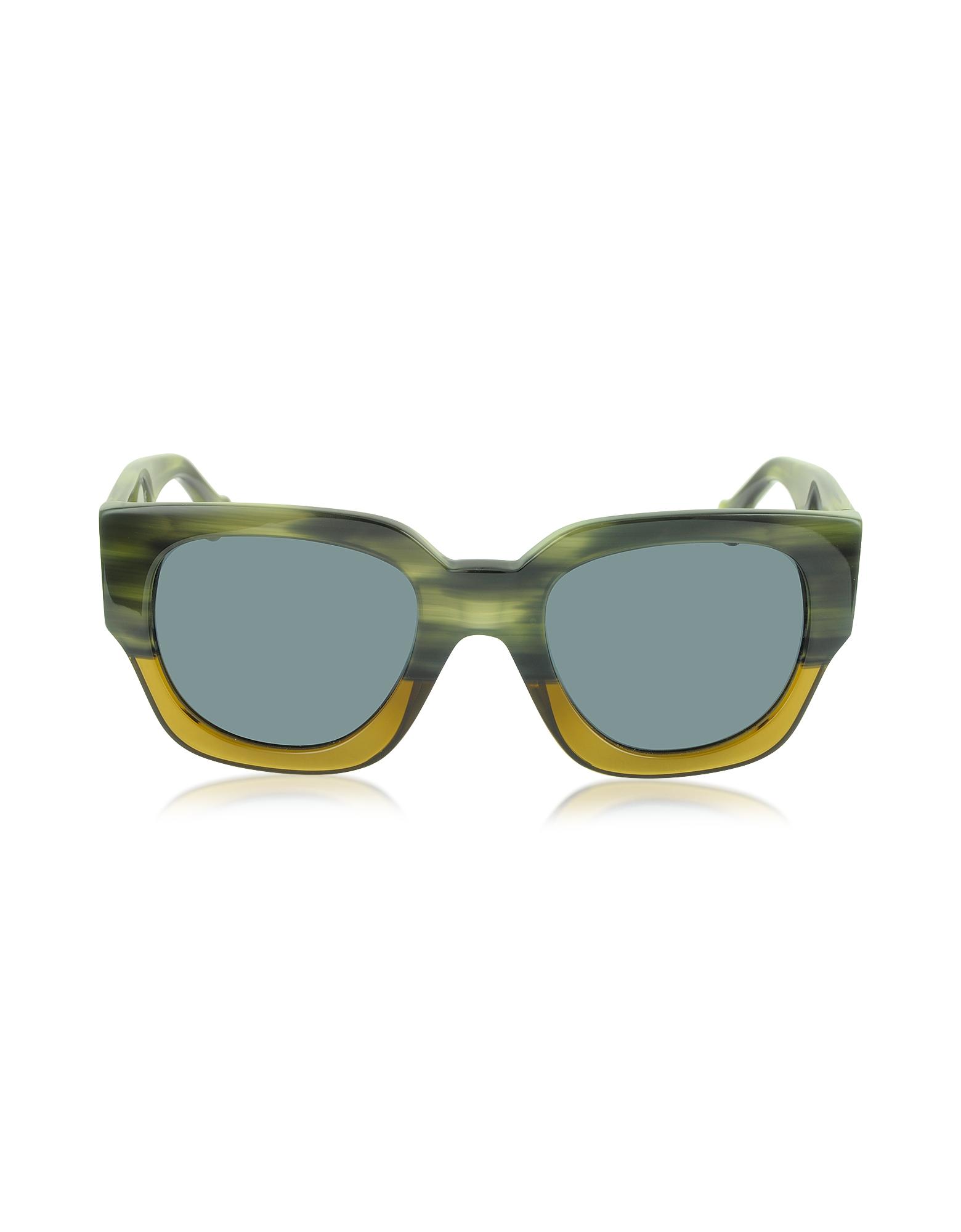 Balenciaga Ba0011 65v Green & Yellow Acetate Women's ...