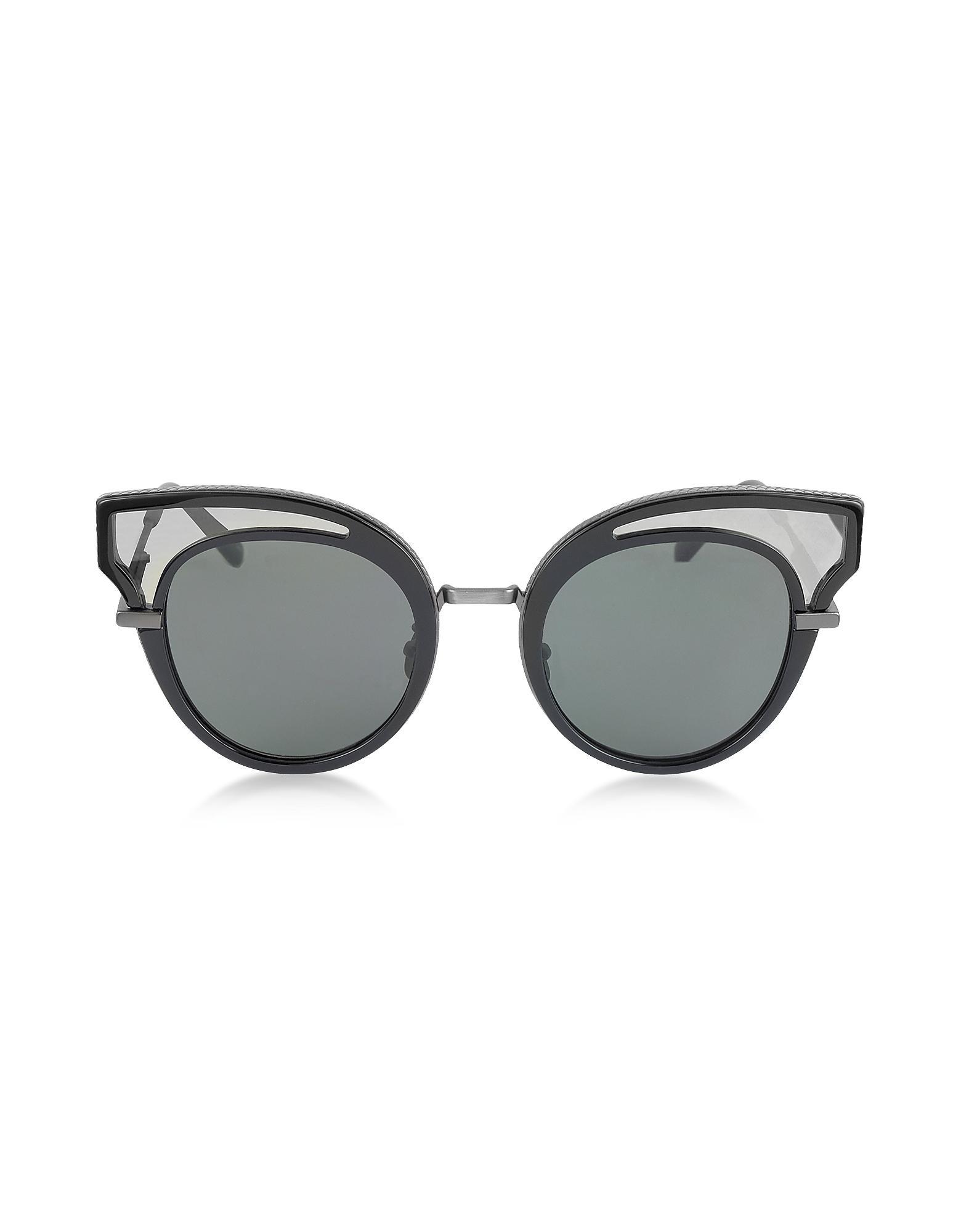 d90f3828154e4 Lyst - Bottega Veneta Bv0094s Acetate Cat Eye Women s Sunglasses in ...