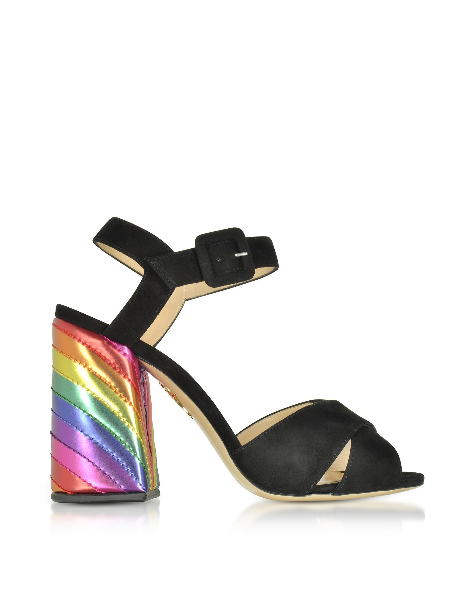 Emma Suede And Leather Sandals - Black Charlotte Olympia k2EDW