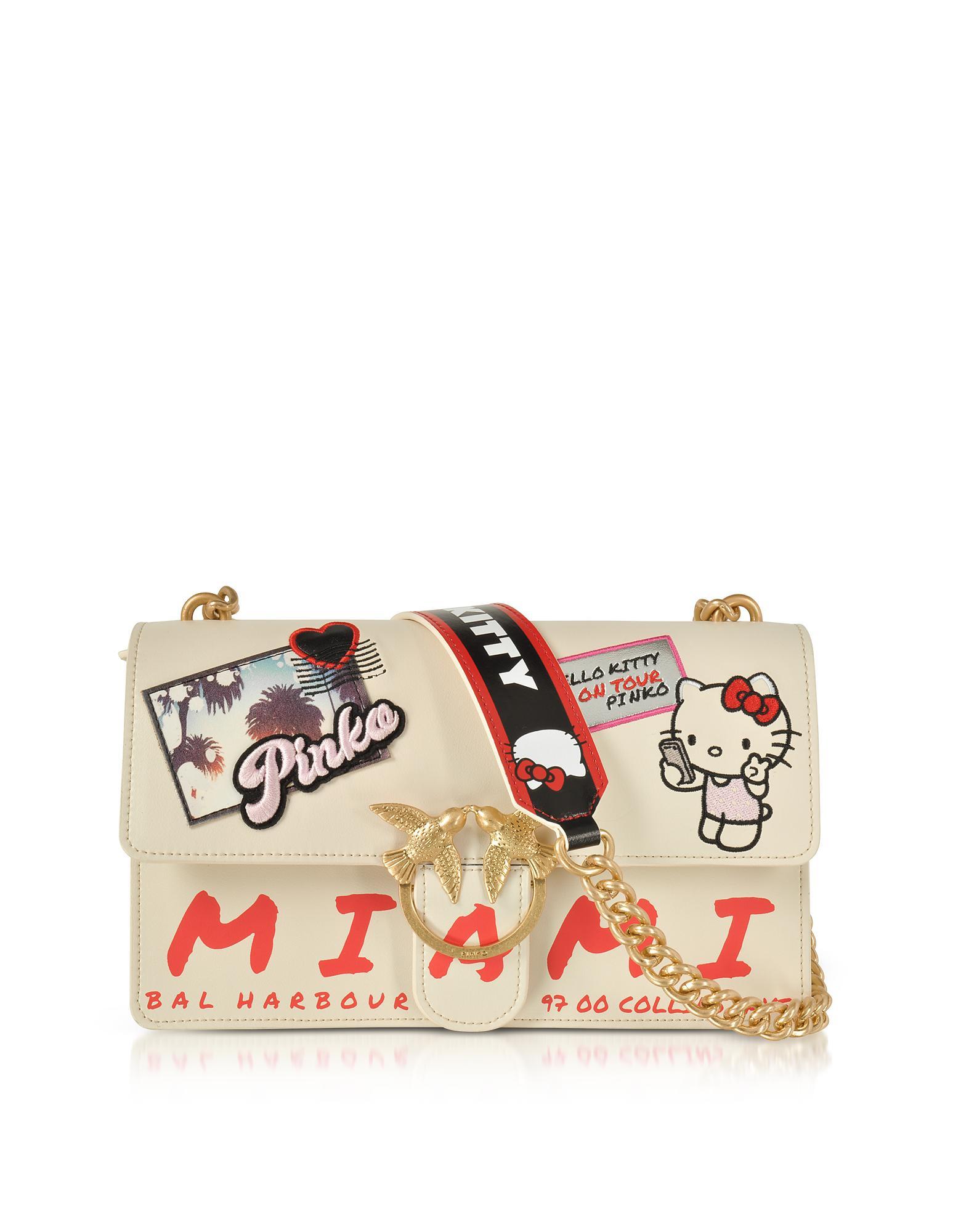 9256eb1aa Pinko Love Hello Kitty Souvernir White Eco Leather Shoulder Bag in ...