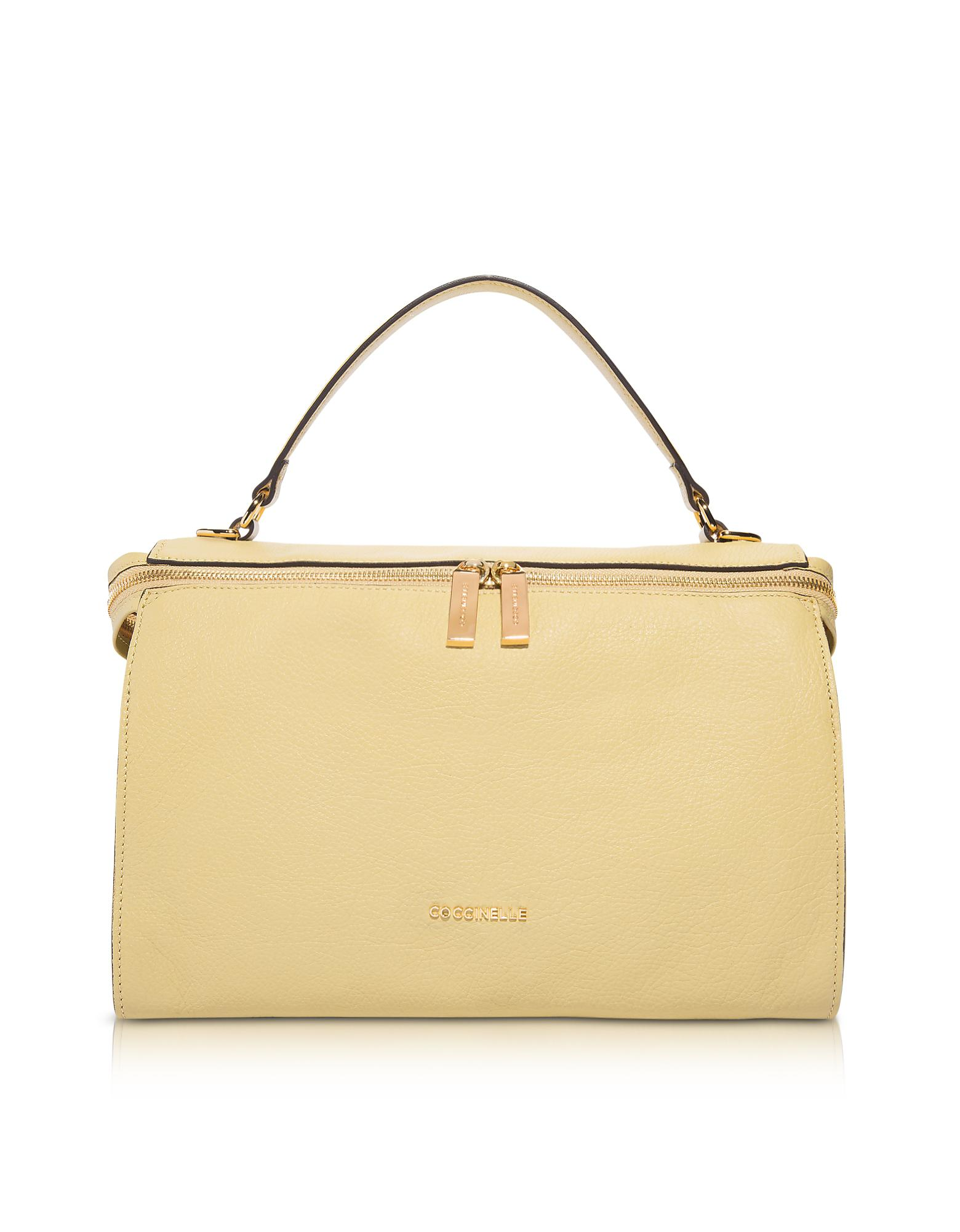 8d4f08e88a Coccinelle Atsuko Leather Satchel Bag in Yellow - Lyst