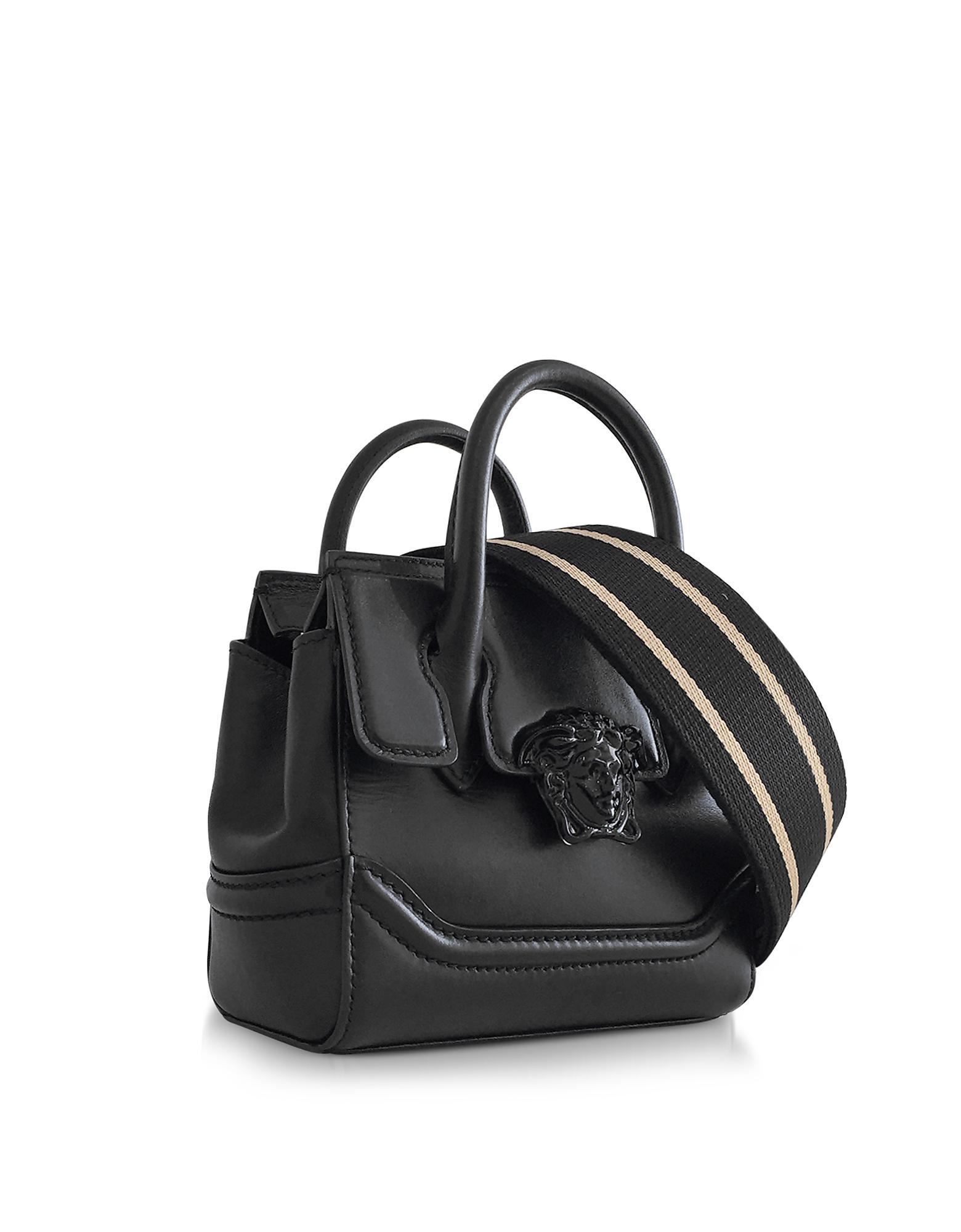 e44ee905 Versace Palazzo Empire Black Leather Mini Handbag