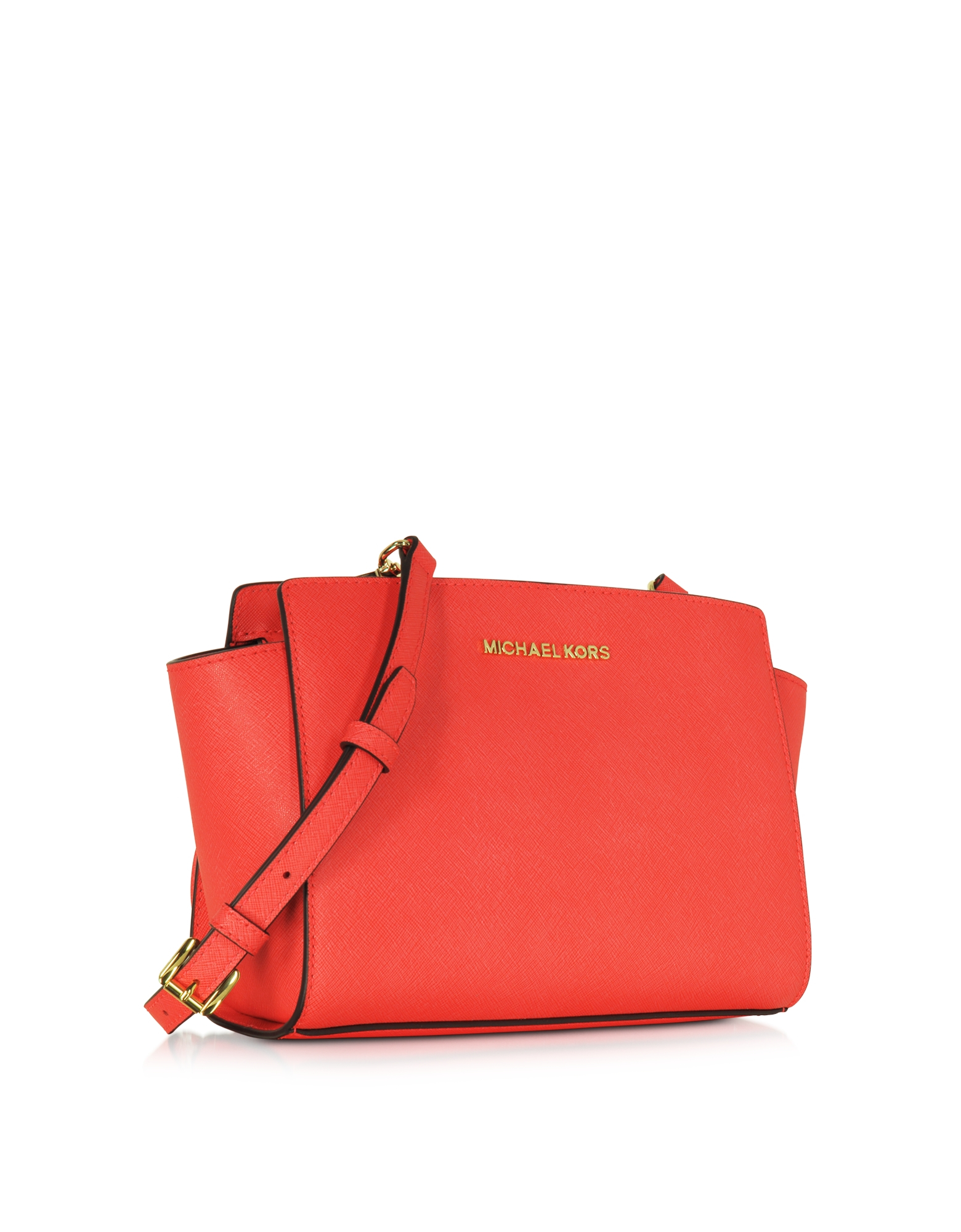 38b71661757b ... promo code for michael kors selma medium coral reef saffiano leather  messenger bag 51b36 25325