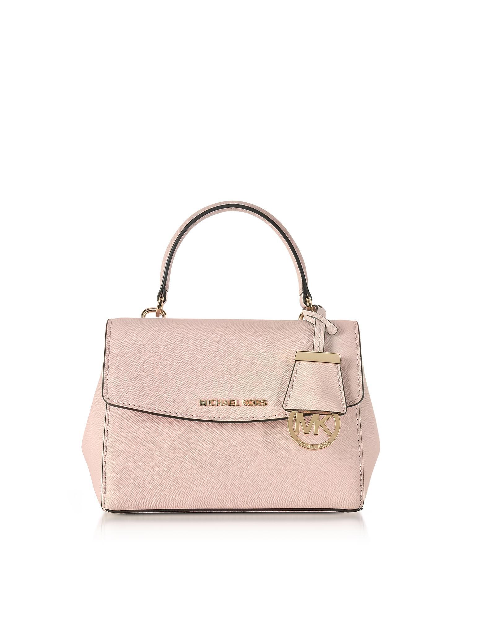 dd436901c269 Michael Kors Ava Soft Pink Saffiano Leather Xs Crossbody Bag in Pink ...