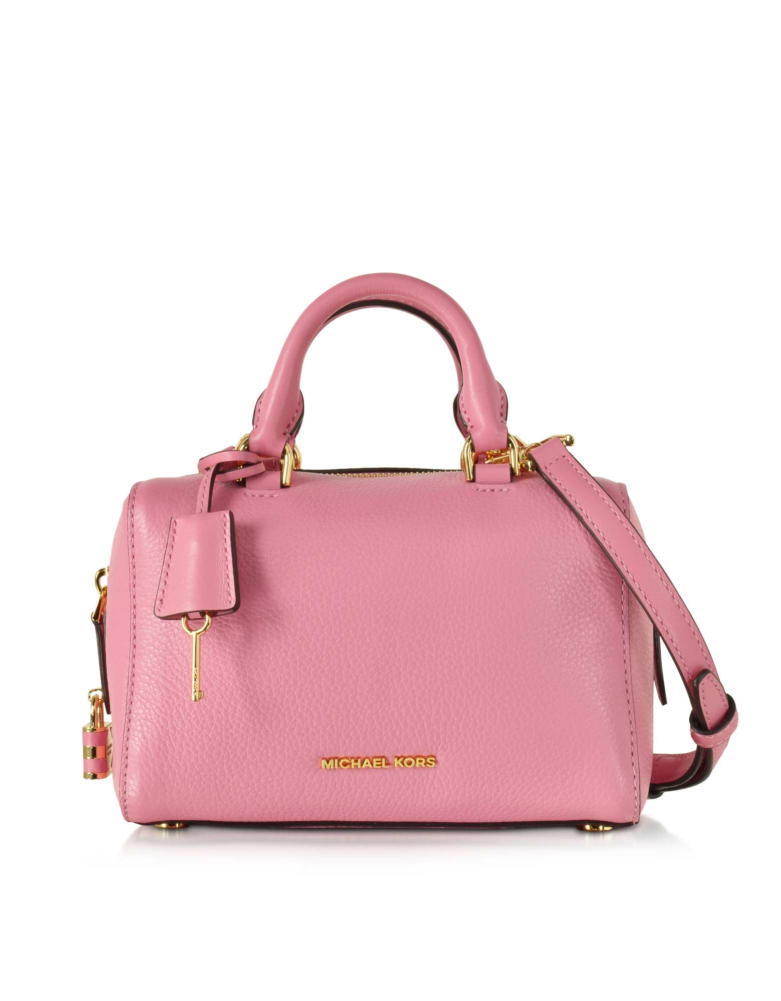 Michael kors Kirby Misty Rose Xs Leather Satchel Bag in Pink | Lyst