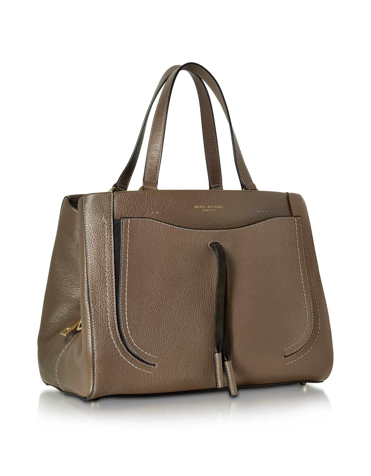d44e181a6483 Lyst - Marc Jacobs Maverick Teak Leather Tote Bag in Brown