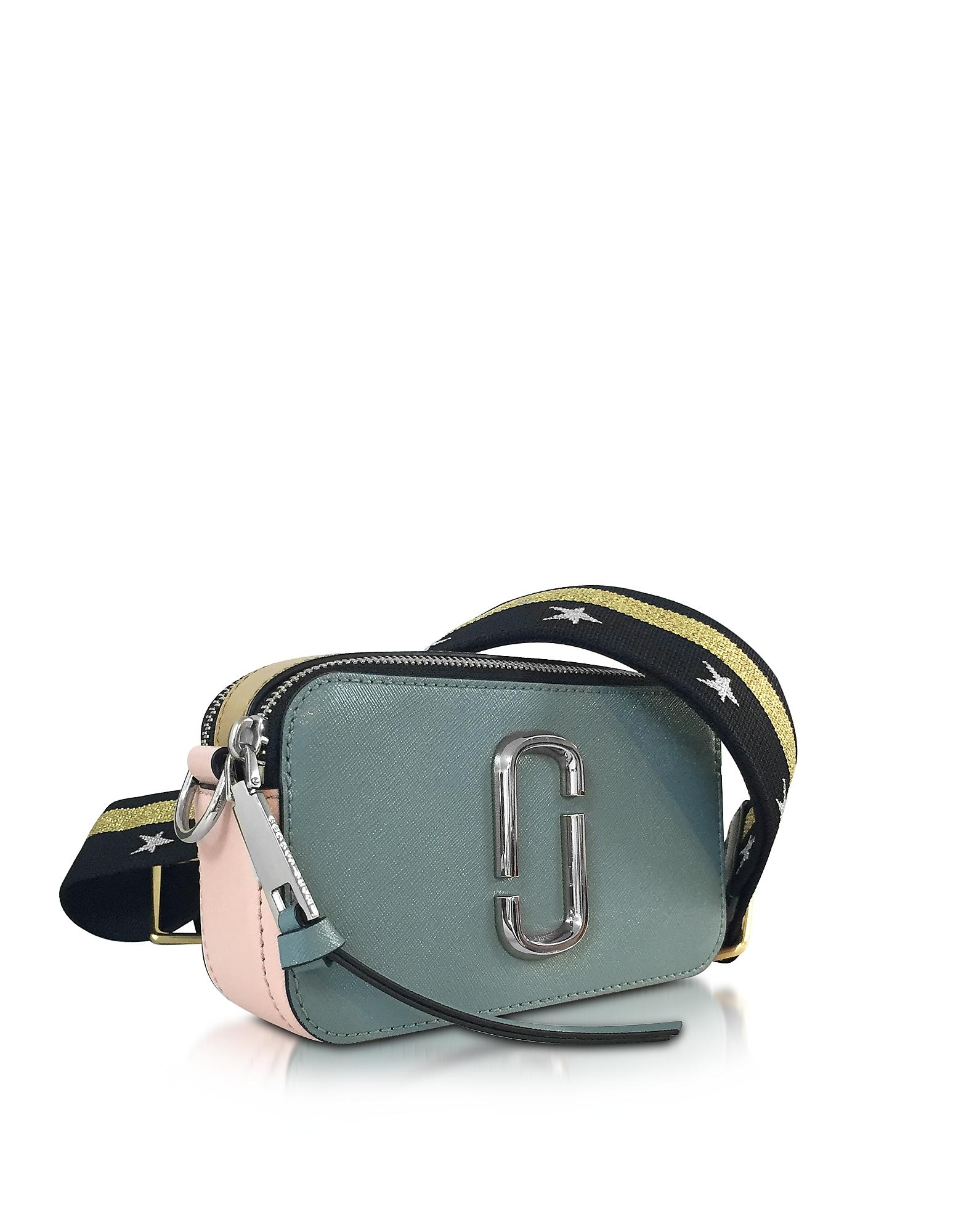 c2bf708f5035b Marc Jacobs Snapshot Dolphin Blue Leather Camera Bag W/shoulder ...