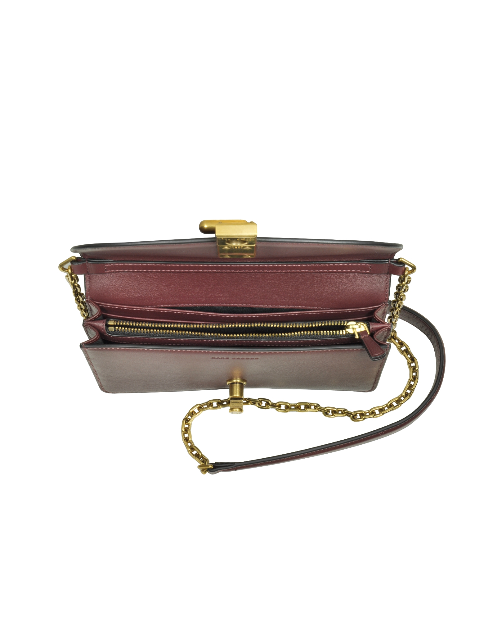 Marc jacobs West End Rubino Leather Wallet On Chain