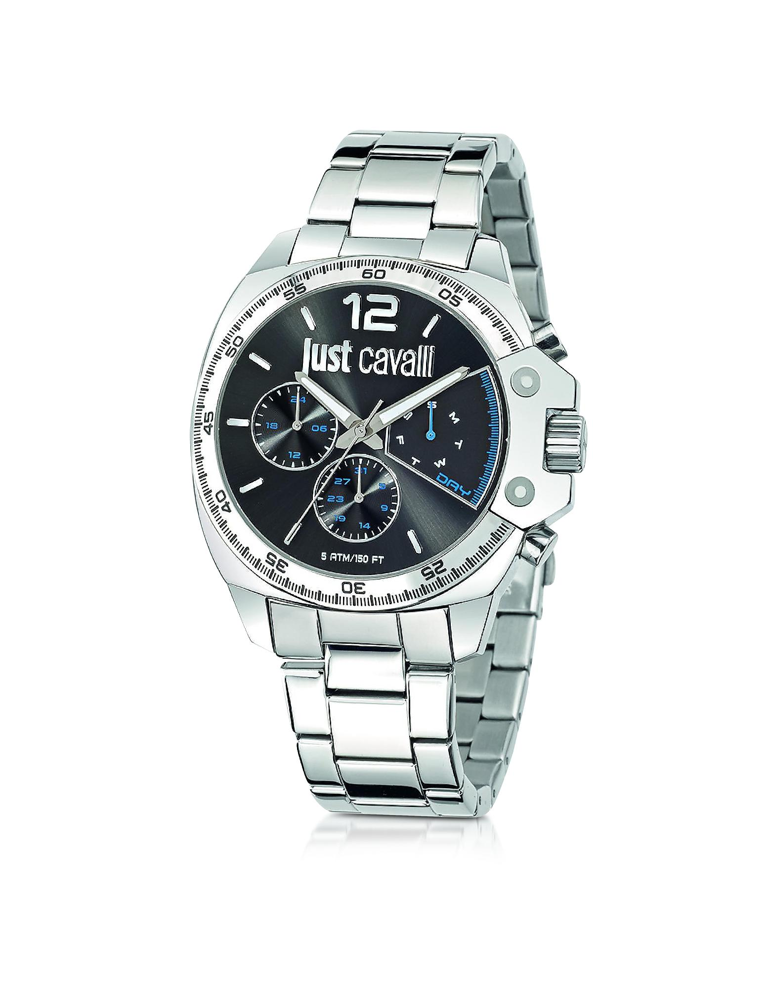 just cavalli just escape silver tone stainless steel s
