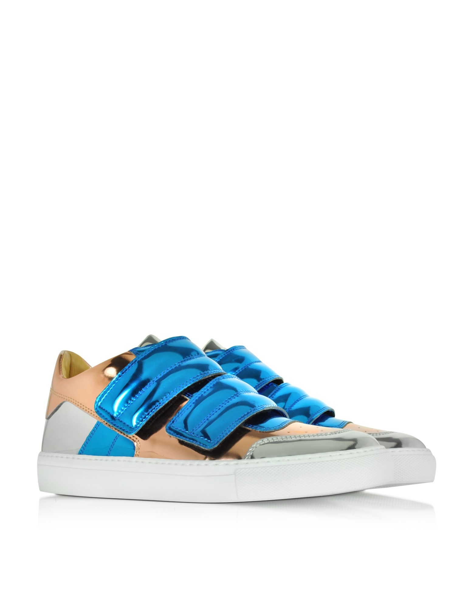 Mm6 By Maison Martin Margiela Blue Copper And Silver