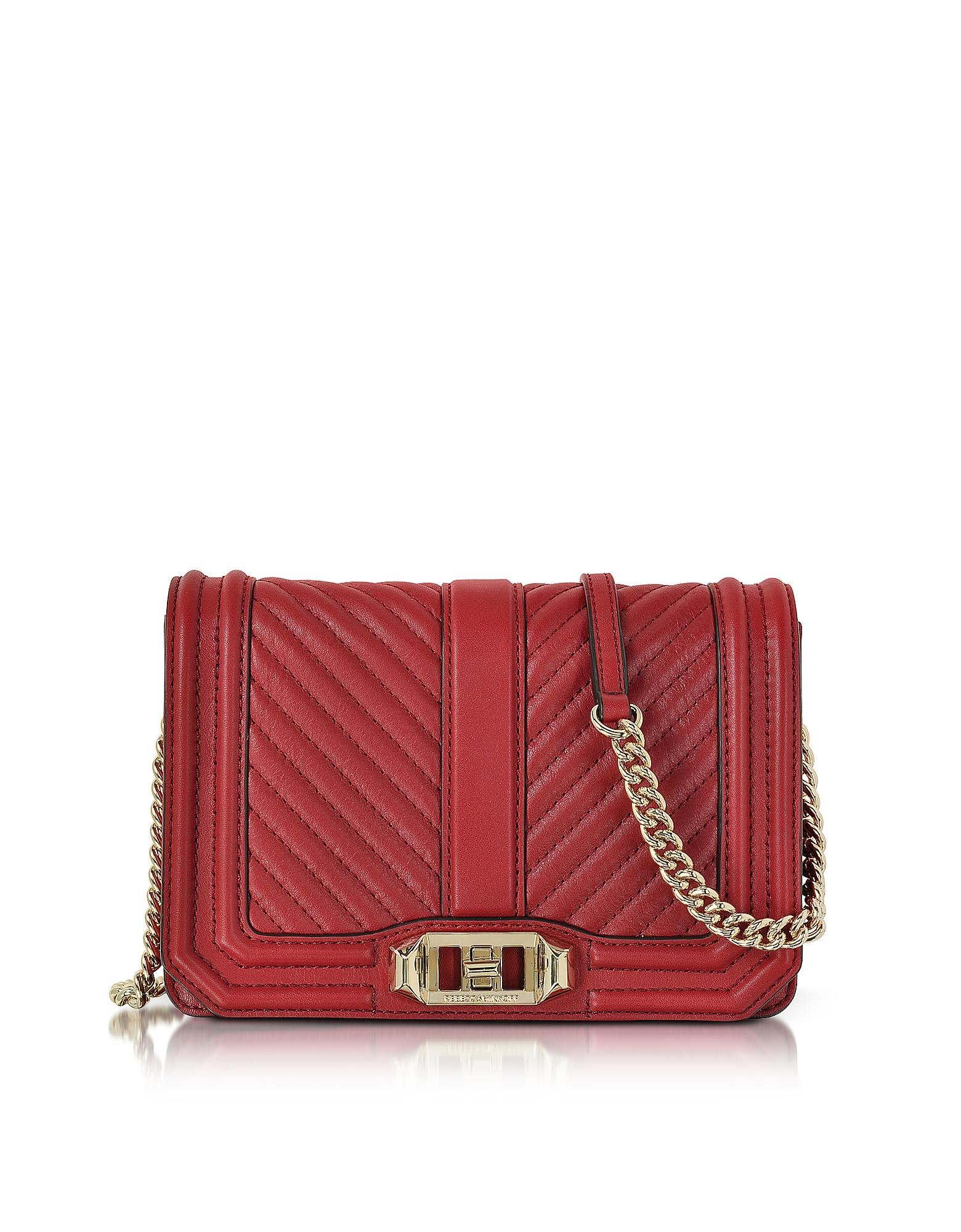 Rebecca minkoff Red Quilted Leather Small Love Crossbody ...